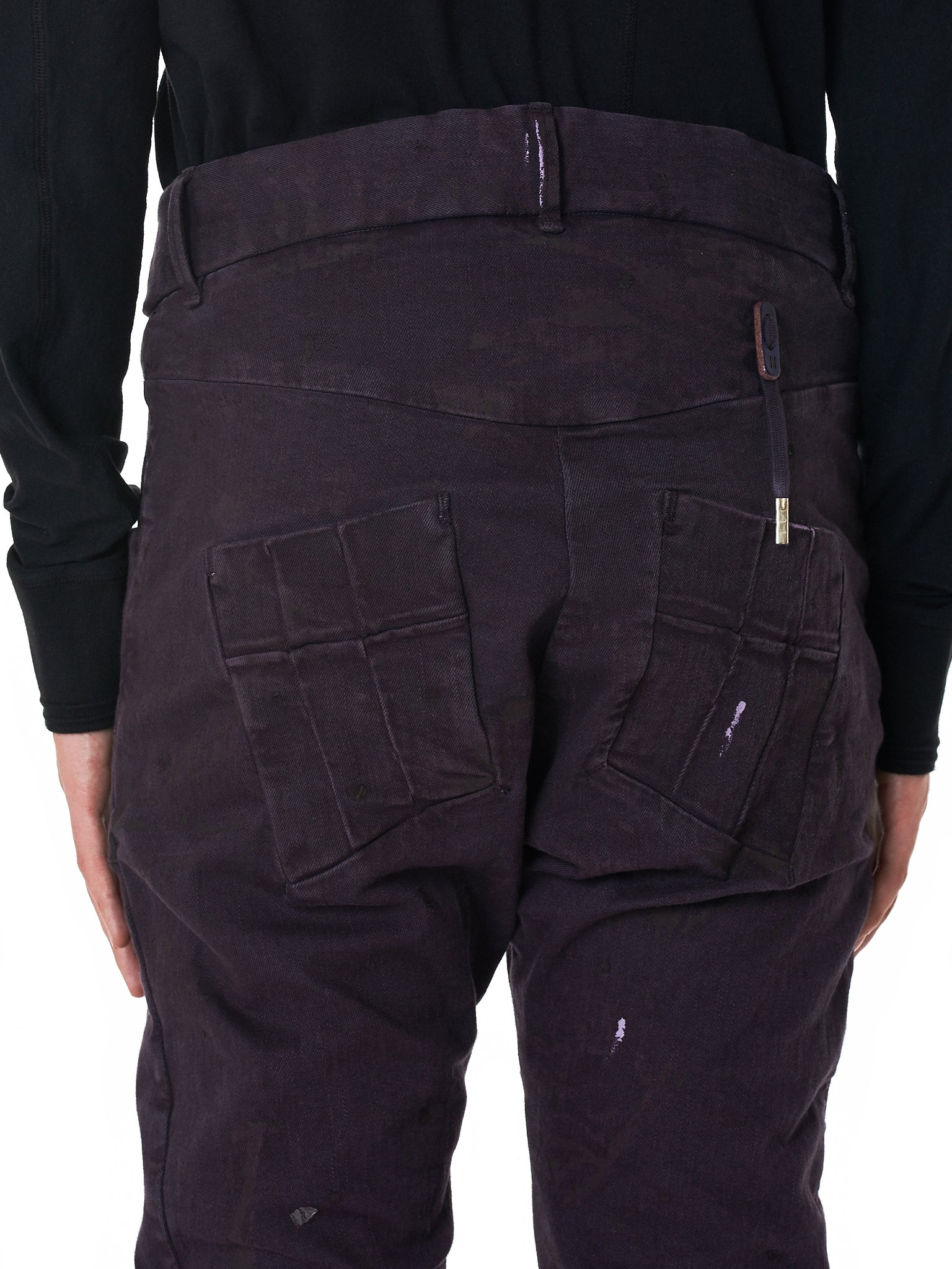 Boris Bidjan Saberi 'P13' Purple Denim - Hlorenzo Detail 3