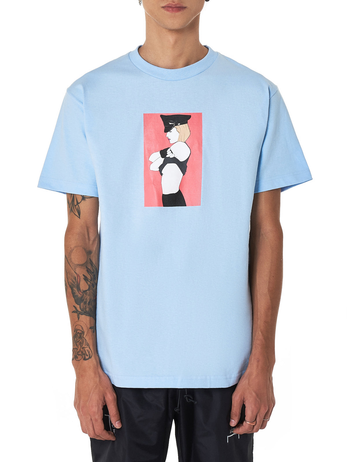 Pleasures 'Arrested' Tee Shirt - Hlorenzo Front