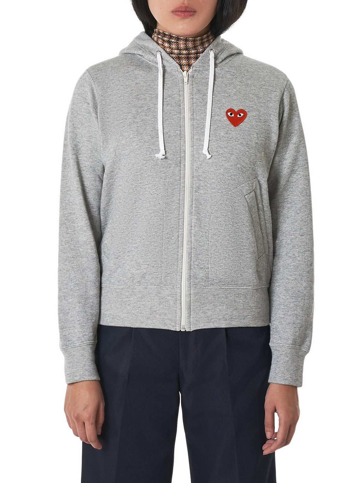Logo Zip Jacket (P1T249--GREY)