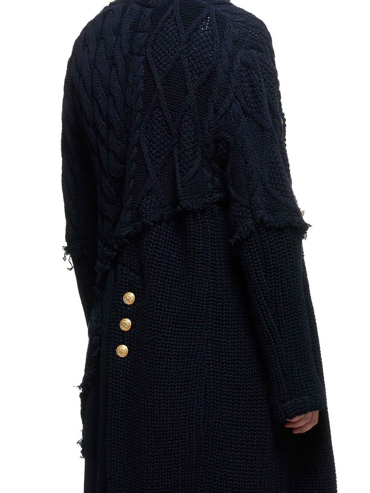 Knitted Oversized Cardigan (P20P1450-NAVY)