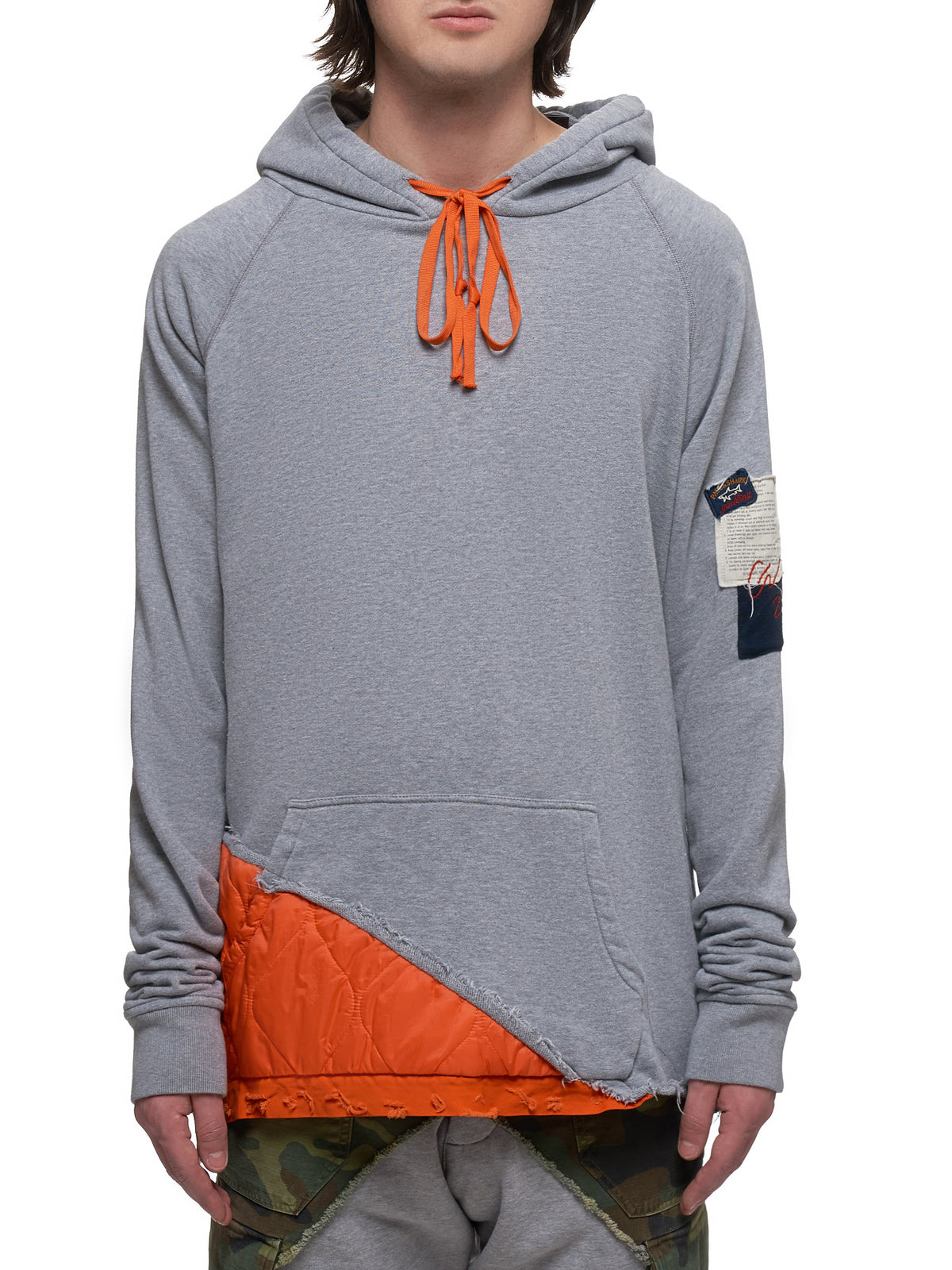 Patched Sweatshirt (P20P1454-GREY-ORANGE)
