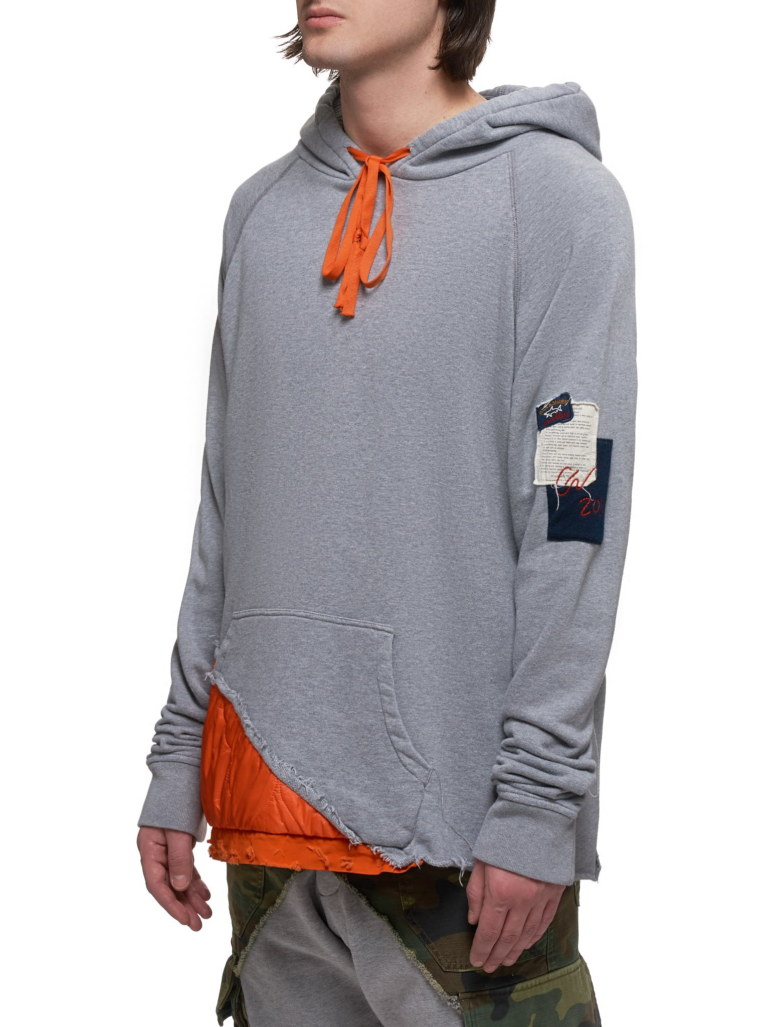 Paul & Shark by Greg Lauren Hoodie - Hlorenzo Side