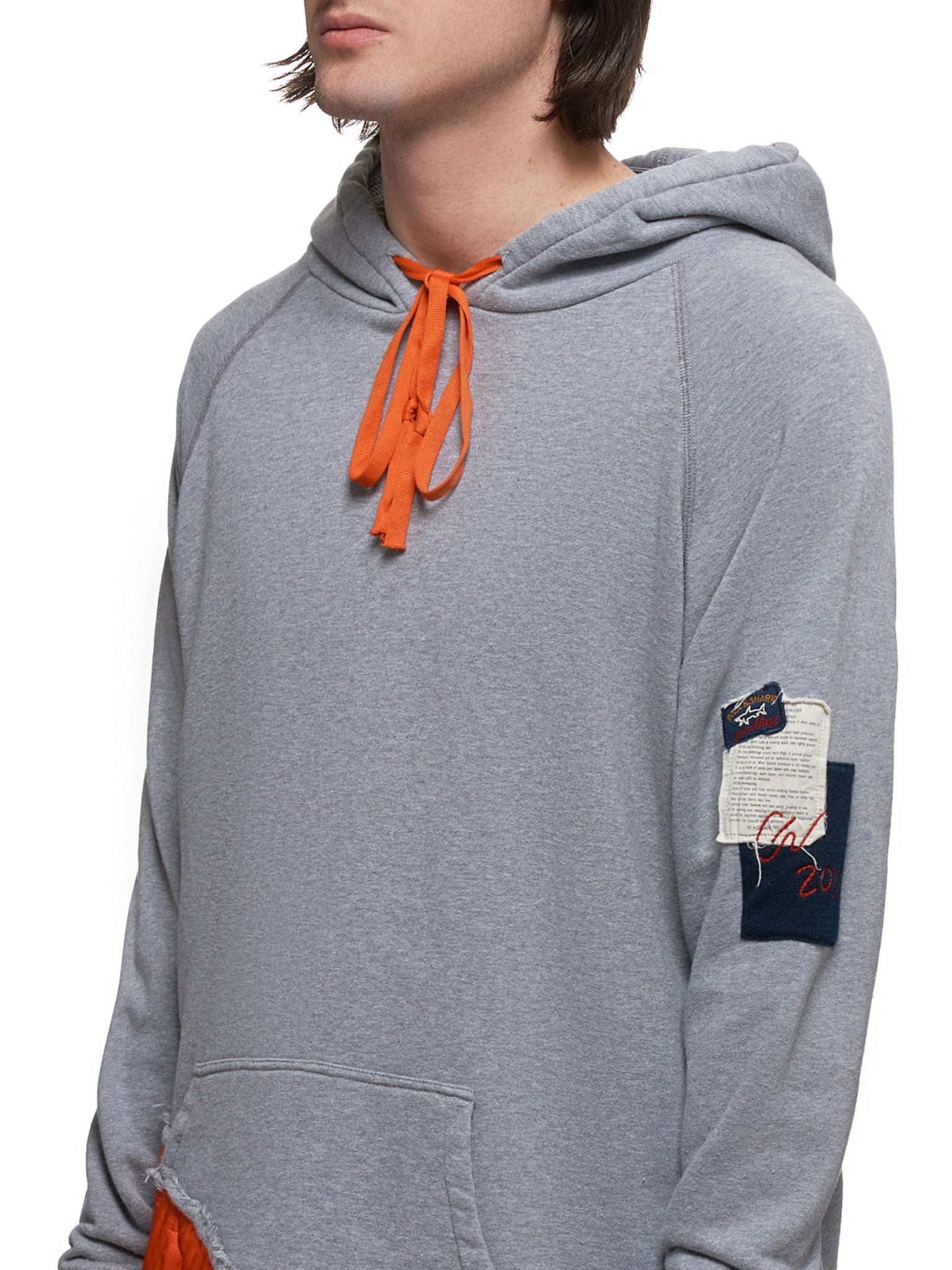 Paul & Shark by Greg Lauren Hoodie - Hlorenzo Detail 1