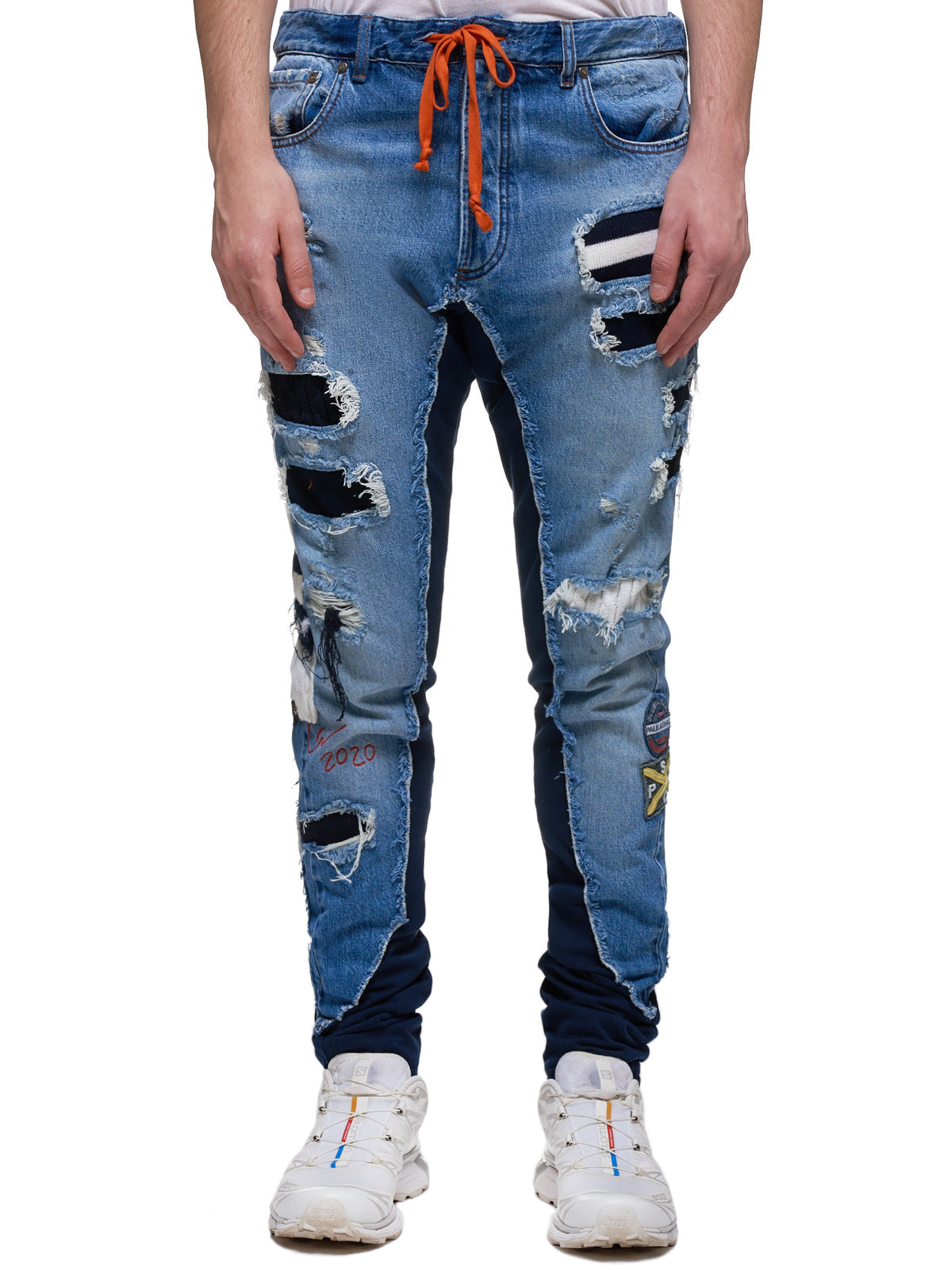 50/50 Long Slim Jeans (P20P4312-DENIM-BLUE)