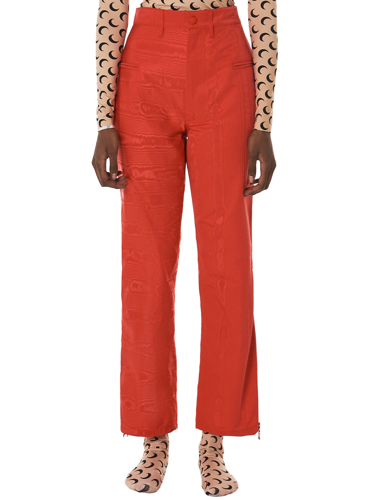 Marine Serre Moire Trousers - Hlorenzo Front