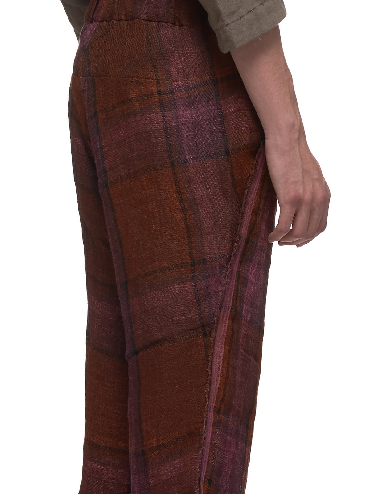 Madras Plaid Trouser (P364C-LLCK-RUST-BROWN)