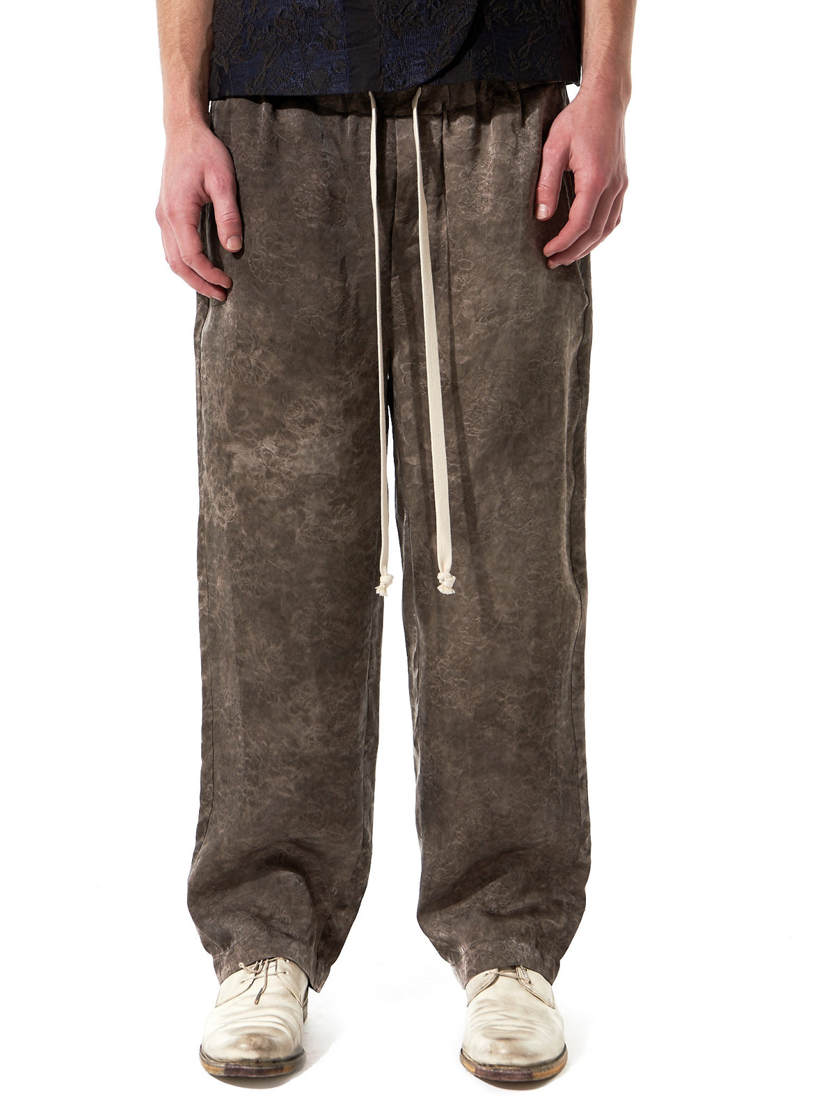 Relaxed Drawstring Trousers (P7M UM3507 GREY-GREY) - H. Lorenzo