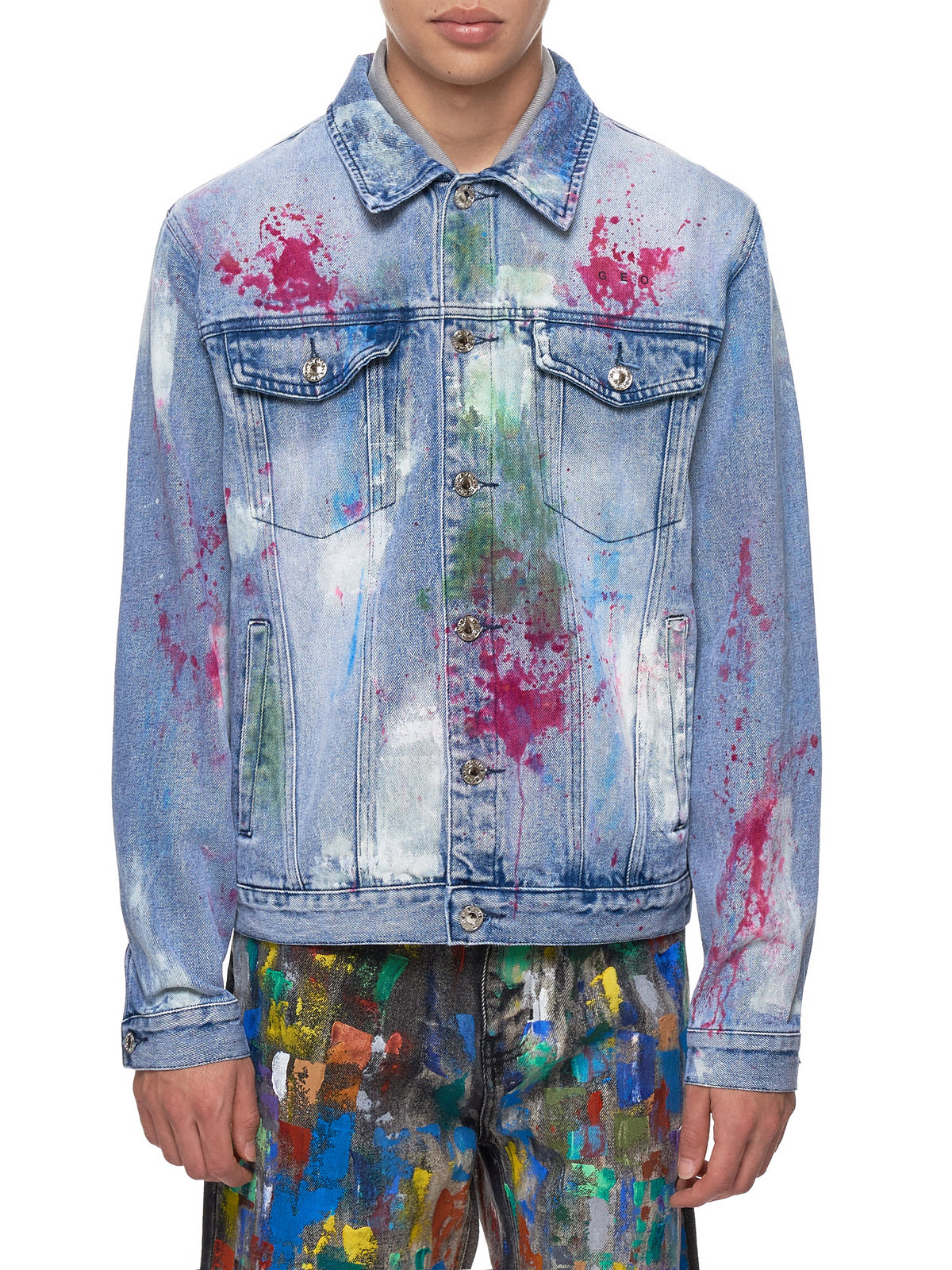 Paint-Splattered Jacket (PAINTERS-CANVAS-STONEWASH)
