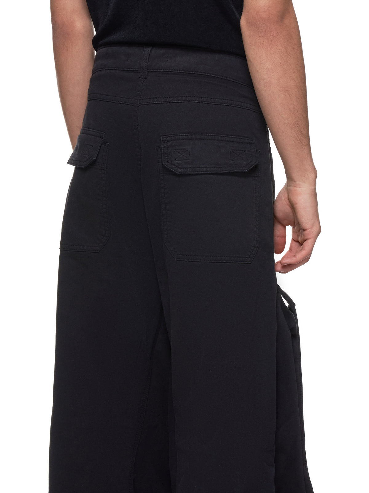 Pop-Up Leg Trousers (PANT36-S16-F164-BLACK)
