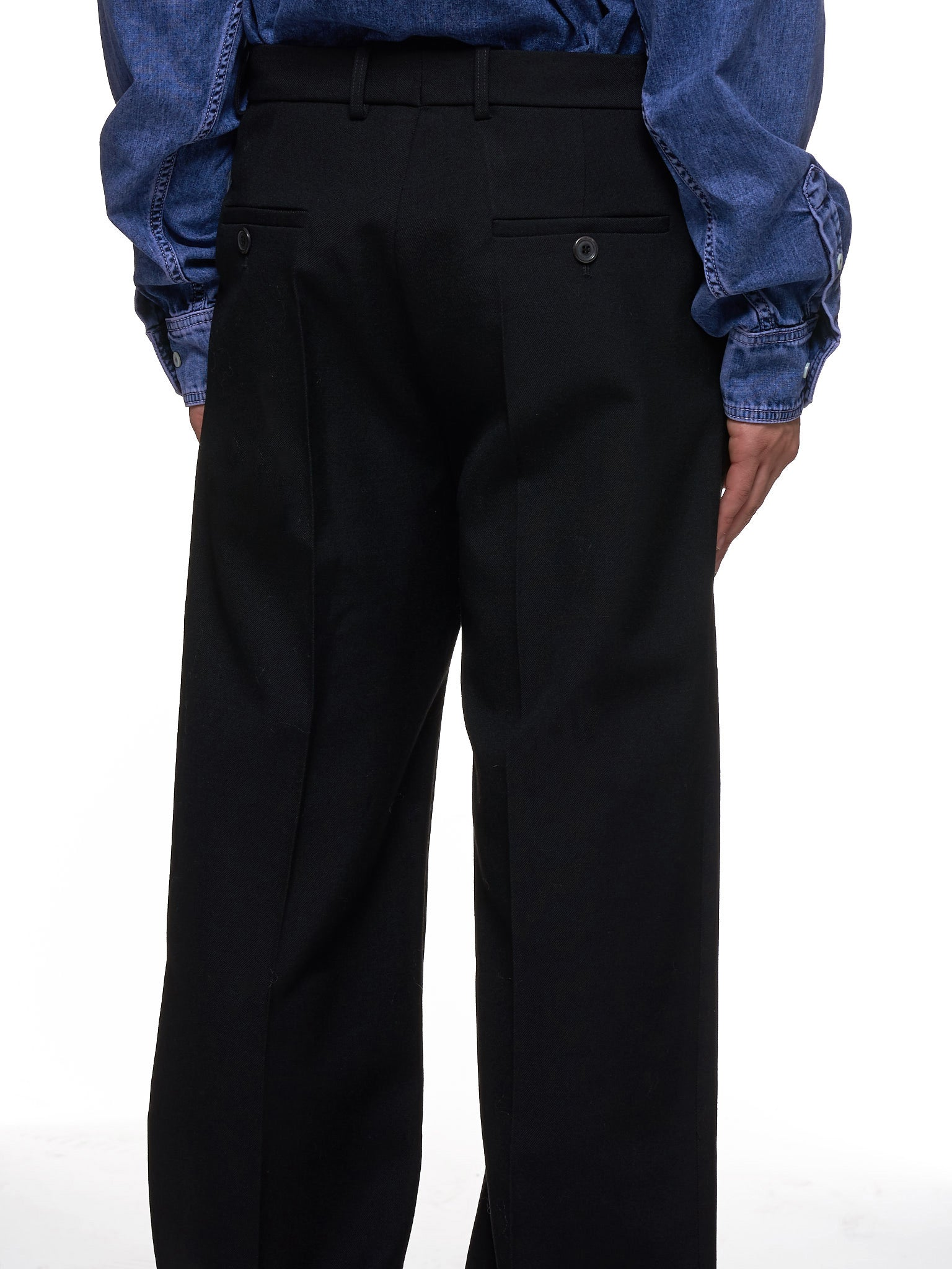 Wool Trousers (PANT41-S17-F01-BLACK)
