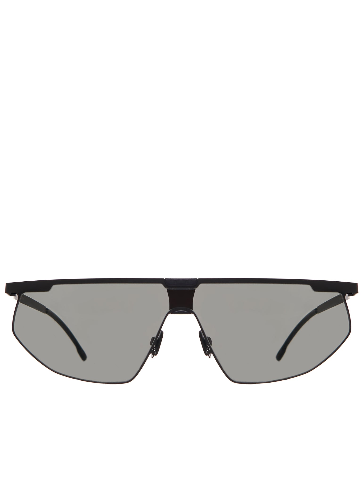 Shield Sunglasses (PARIS-MH1-BLACK-DARKGREY-SOLID)