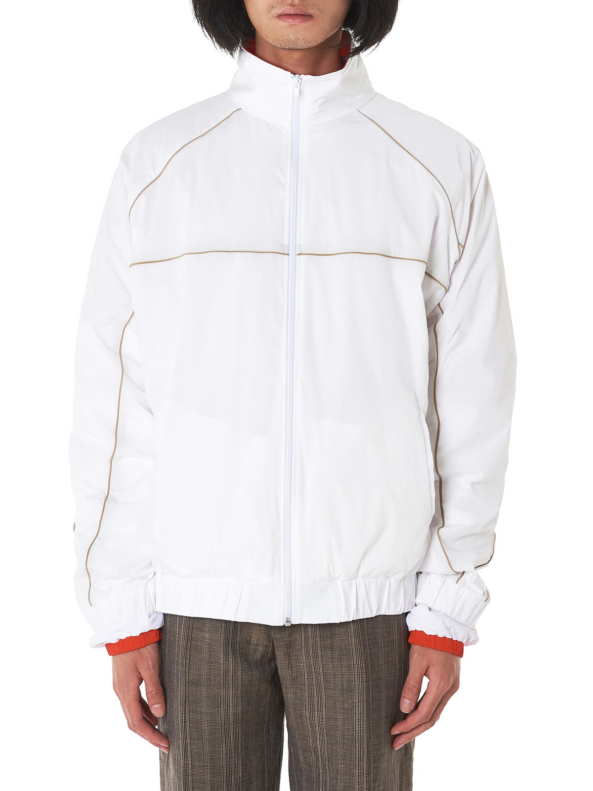 Piped Coach's Jacket (PARKA1-S14-F08-S14-WHITE)