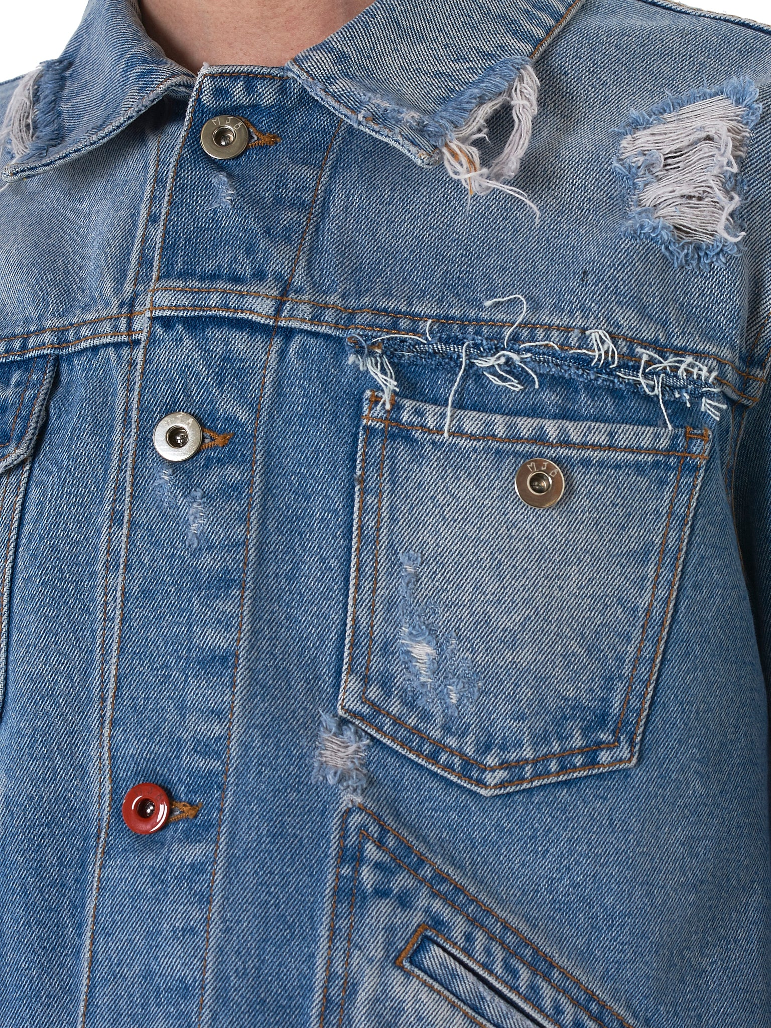 Distressed Denim Jacket (PAX-LIGHT-BLUE)