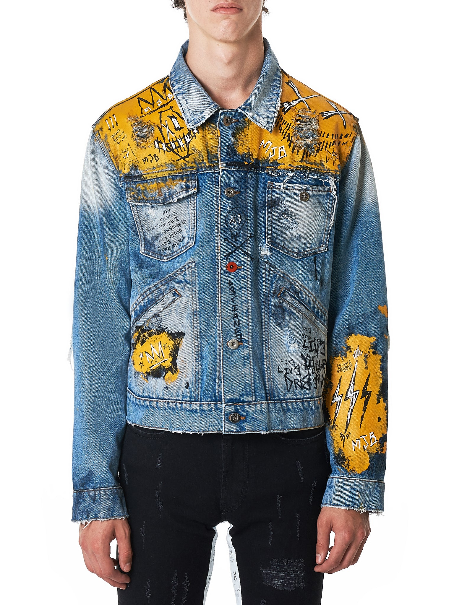MJB (Marc Jacques Burton) Denim Jacket - Hlorenzo Front