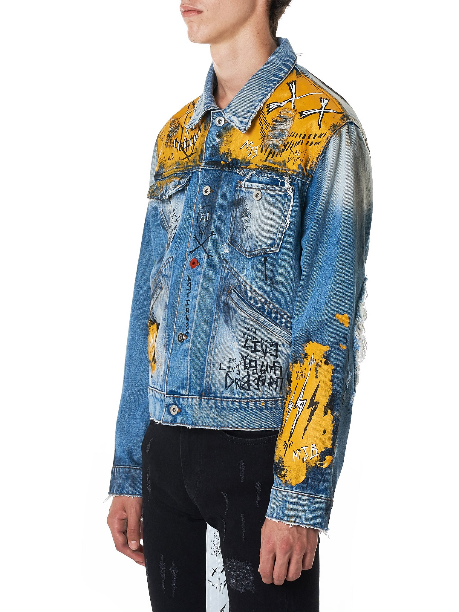 MJB (Marc Jacques Burton) Denim Jacket - Hlorenzo Side