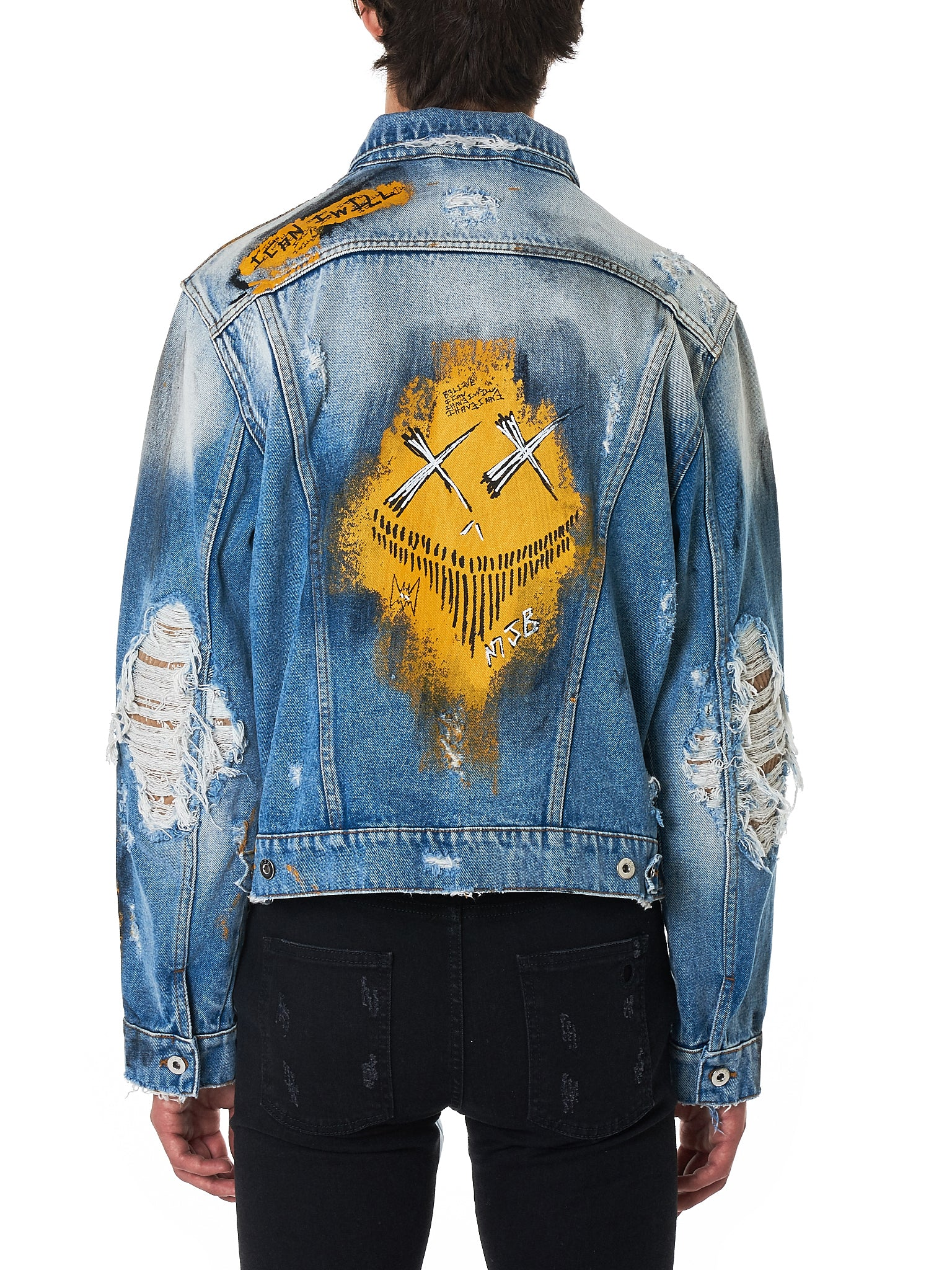 MJB (Marc Jacques Burton) Denim Jacket - Hlorenzo Back
