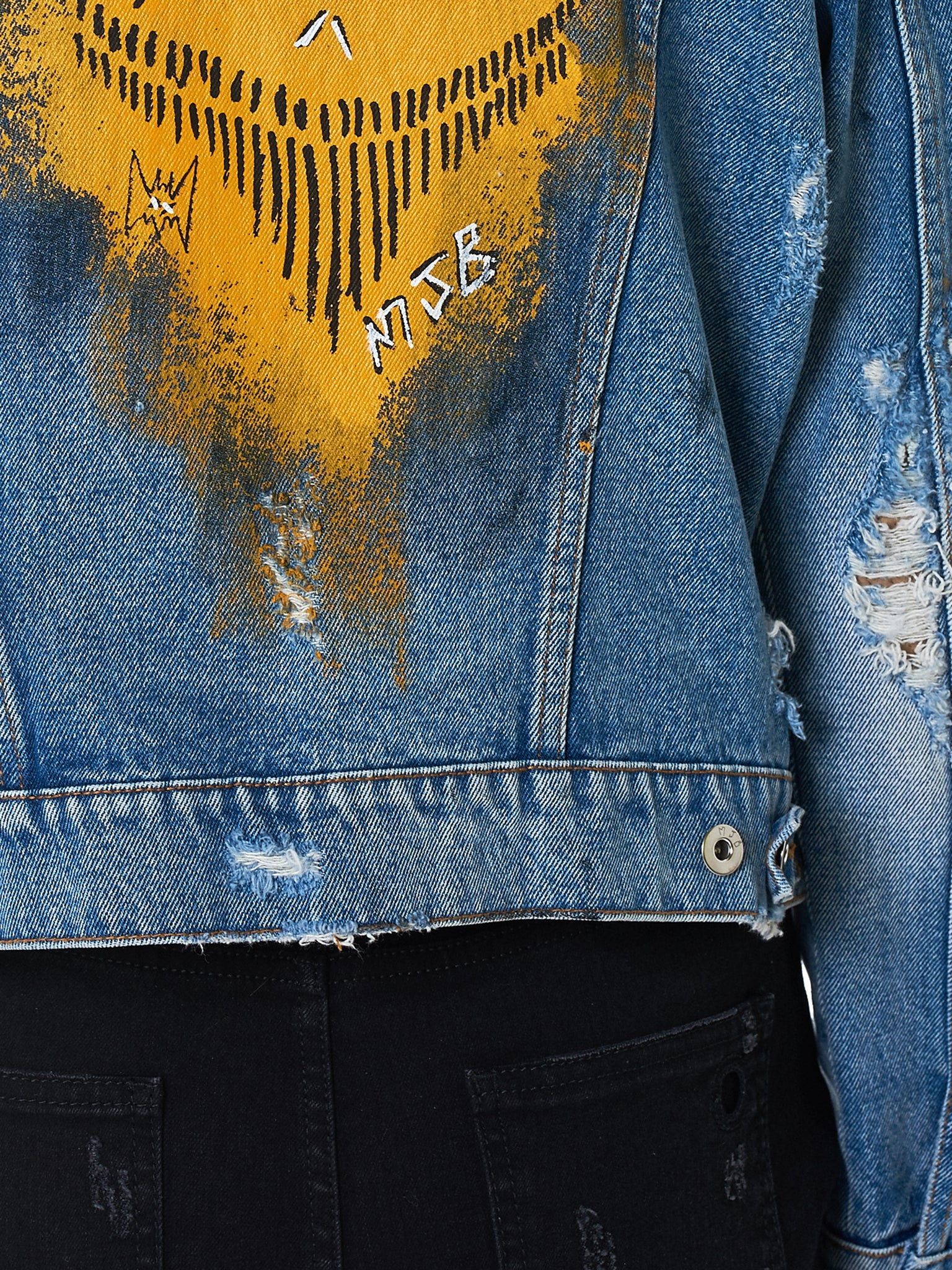 MJB (Marc Jacques Burton) Denim Jacket - Hlorenzo Detail 1