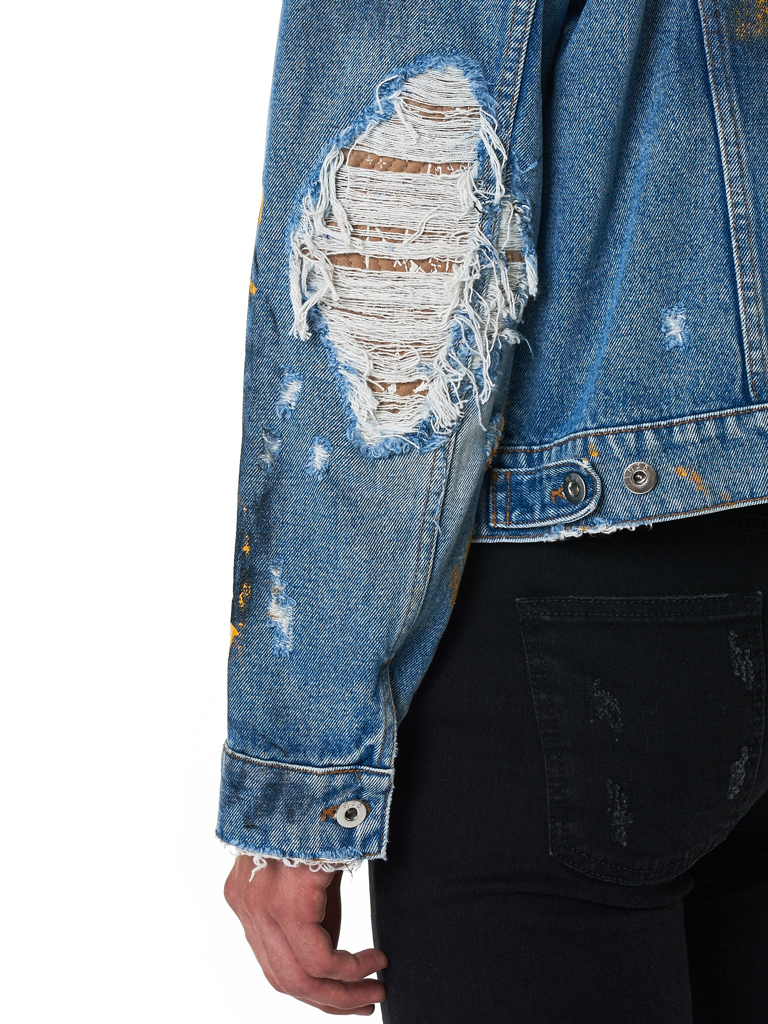 MJB (Marc Jacques Burton) Denim Jacket - Hlorenzo Detail 3