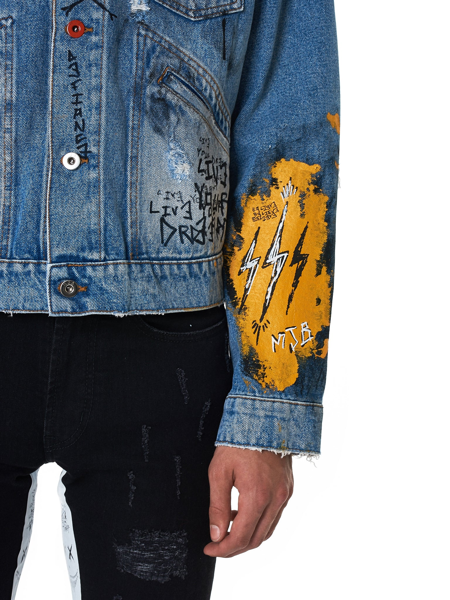 MJB (Marc Jacques Burton) Denim Jacket - Hlorenzo Detail 5