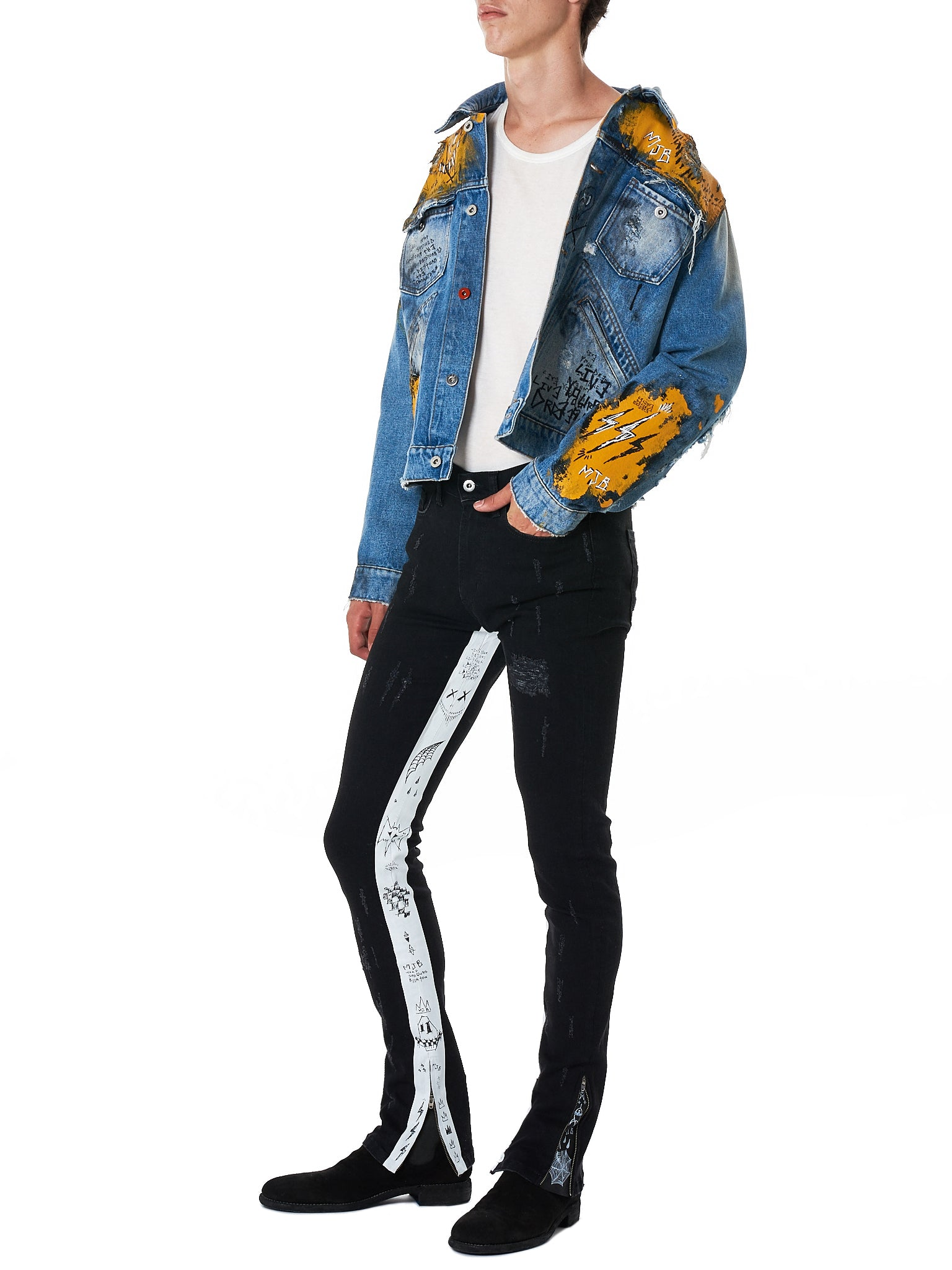 MJB (Marc Jacques Burton) Denim Jacket - Hlorenzo Style
