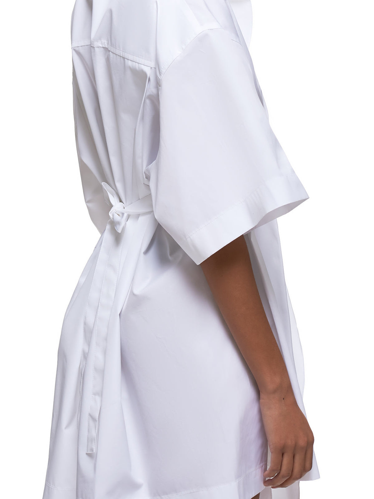 Ruffled-Front Oversized Shirtdress (PCT0005C00539-U1000-WHITE)