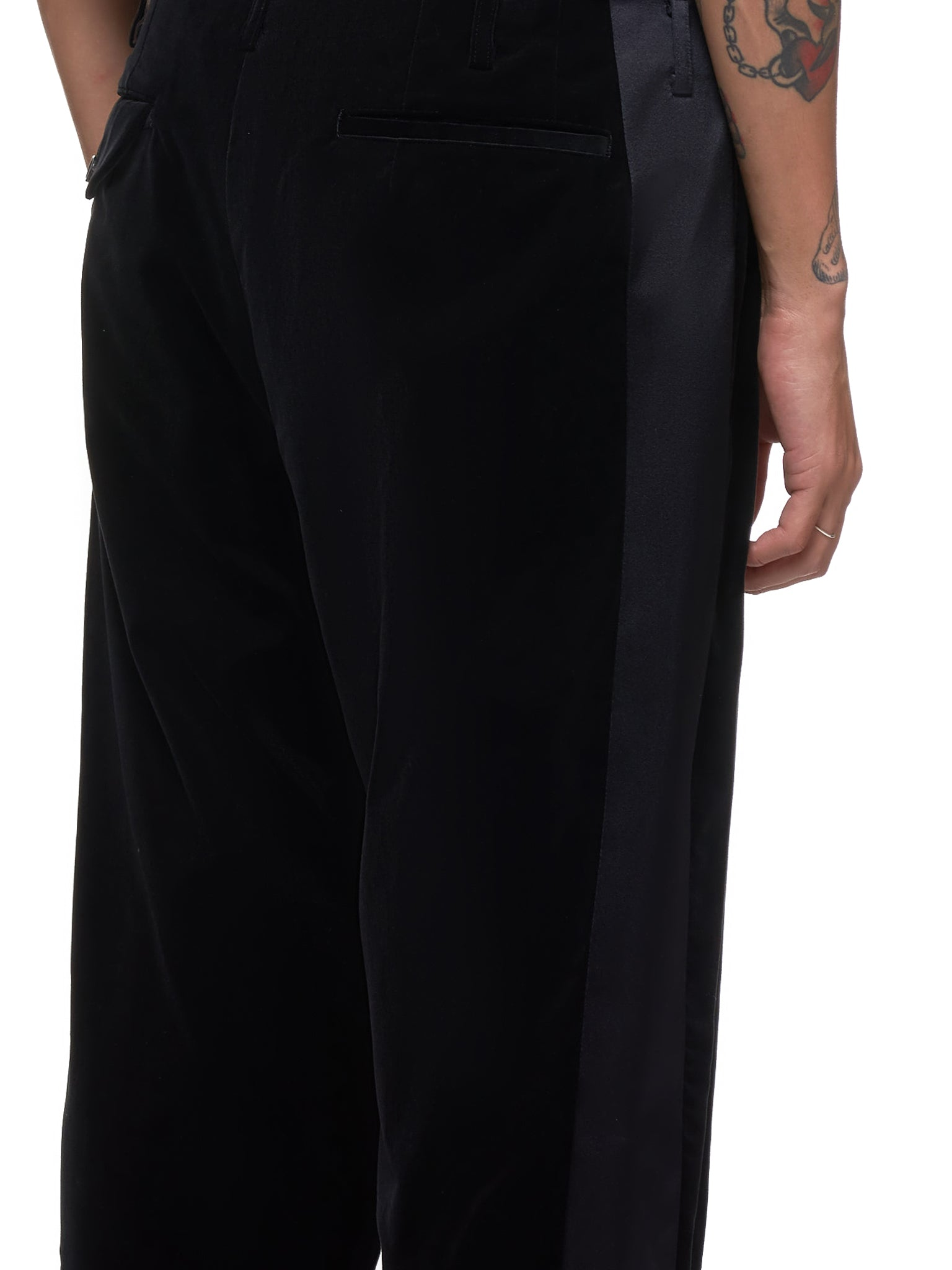 Cropped Trousers (PD-P009-051-BLACK)