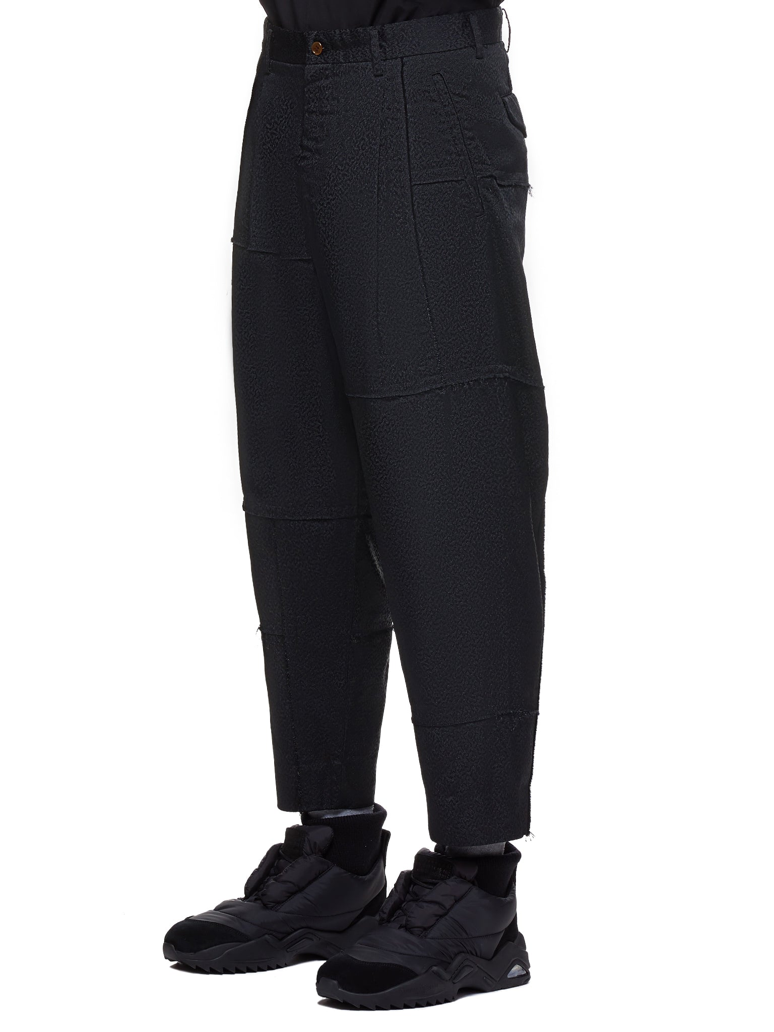 Cropped Trousers (PD-P037-051-BLACK)