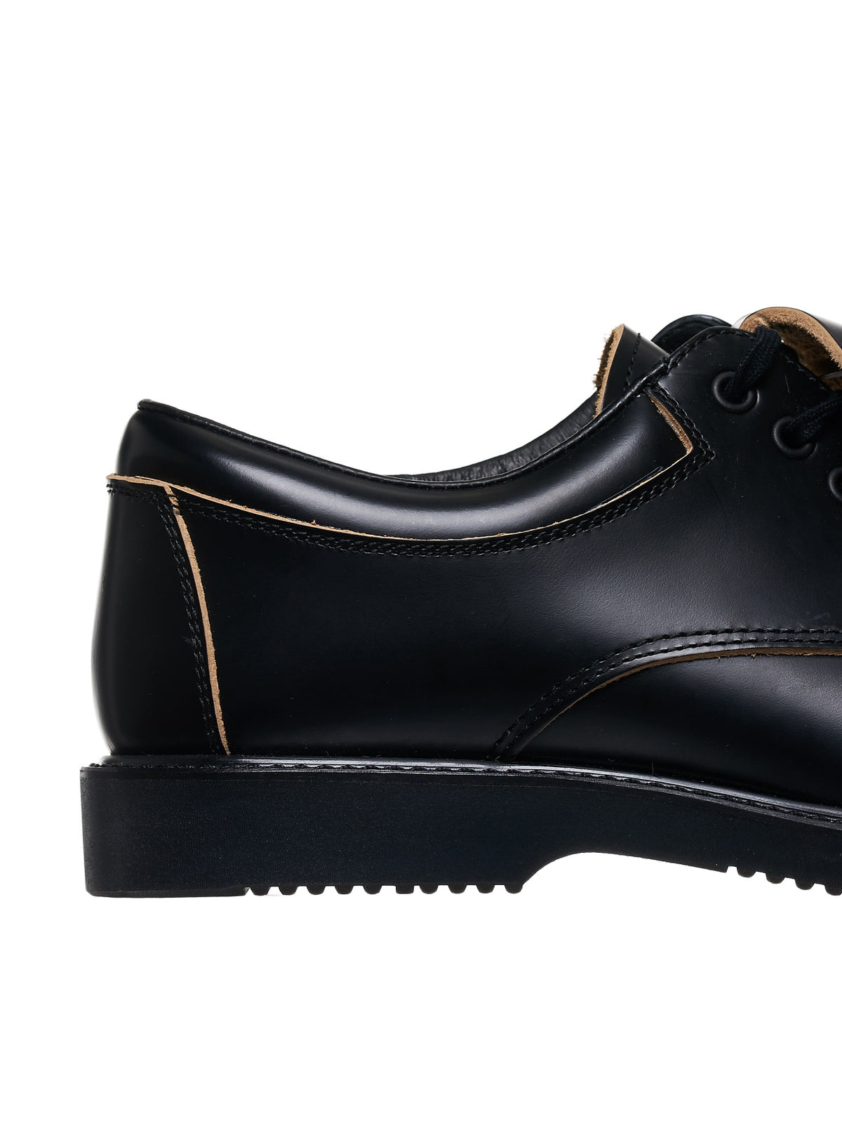 Metallic Oxford Shoes (PE-K106-001-BLACK-SILVER)