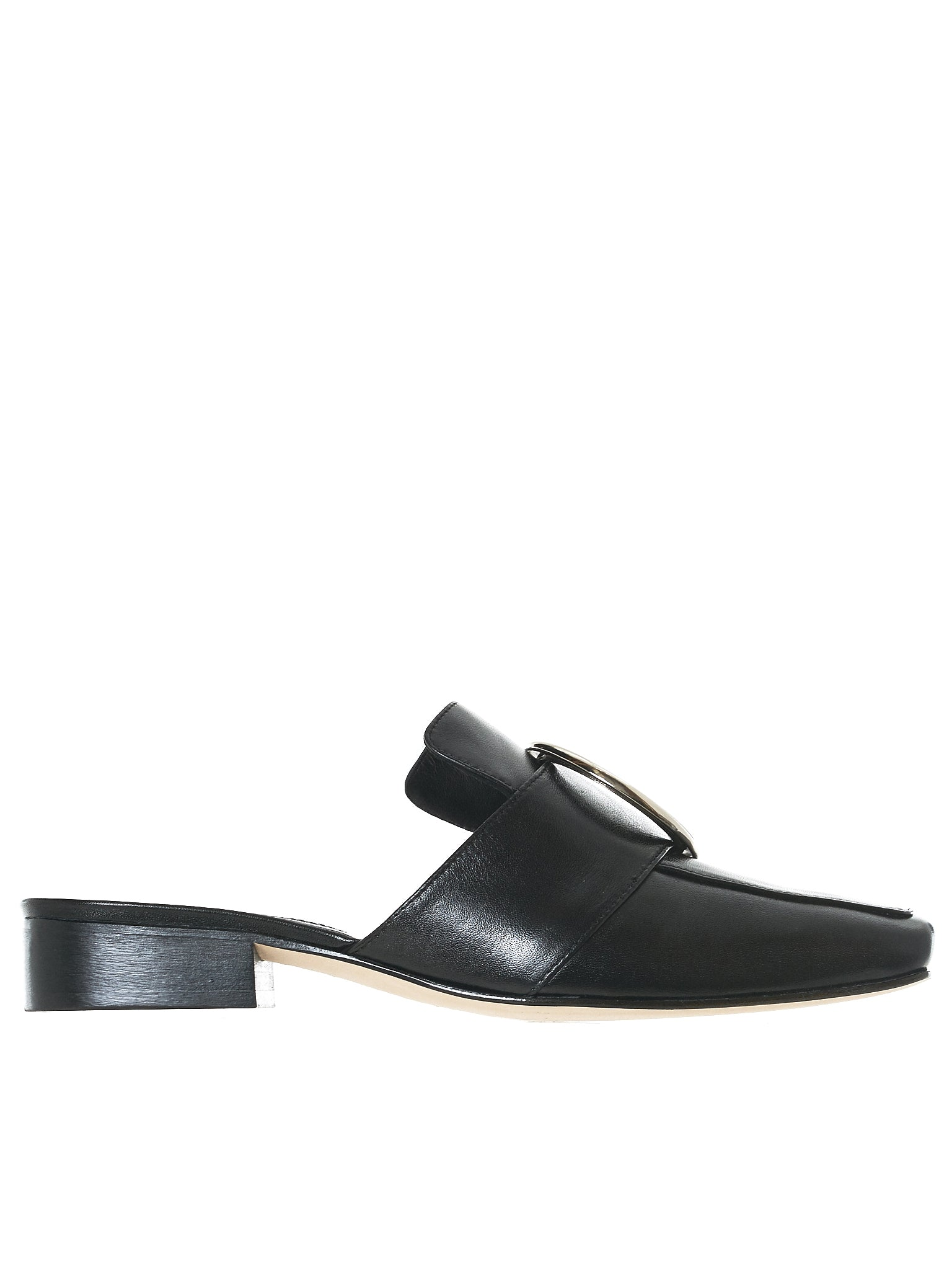 Petrol Leather Flats (PETROL-LEATHER-BLACK)