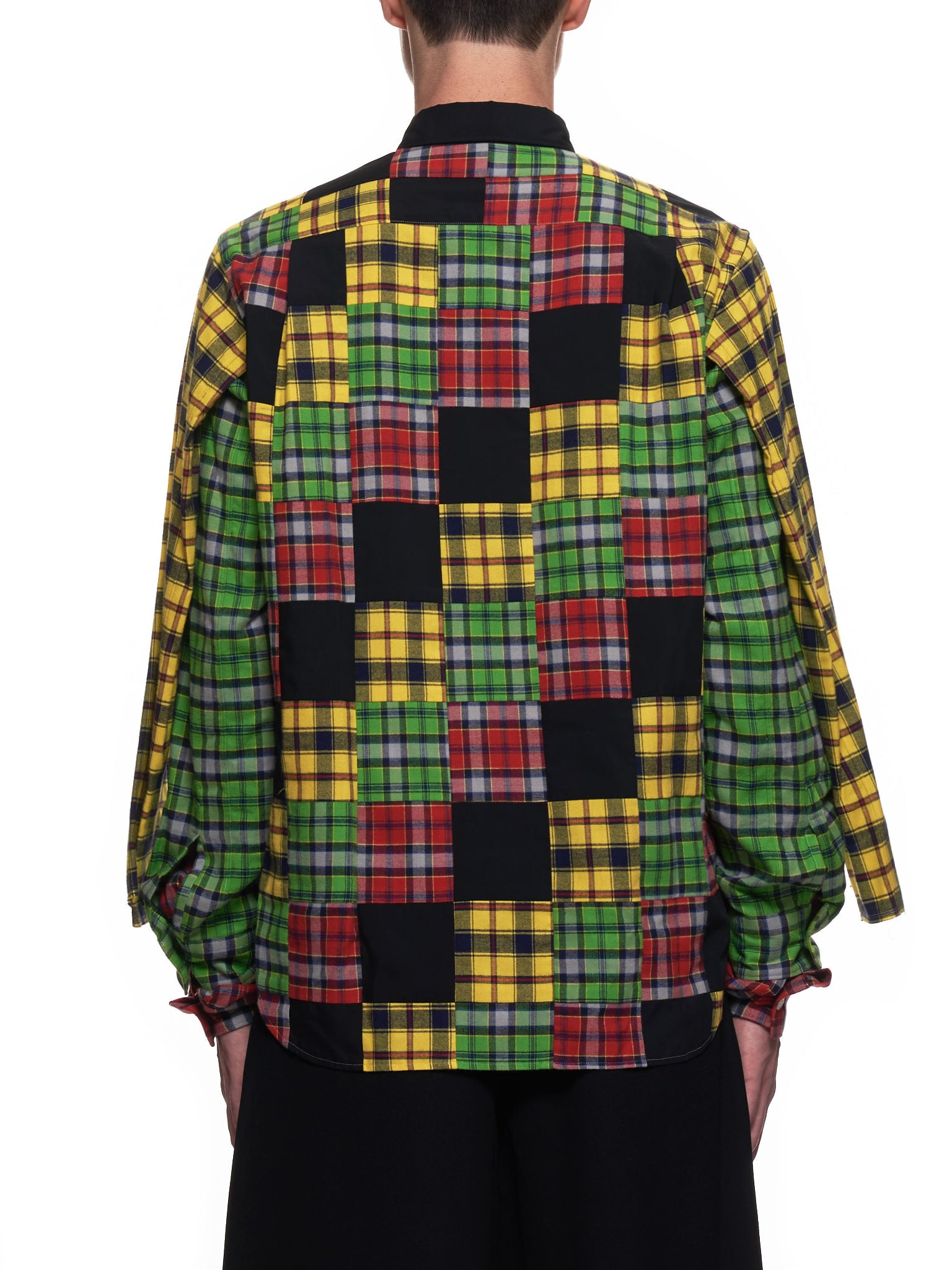 Cubed Plaid Shirt (PF-B019-051-BLACK-MULTI)
