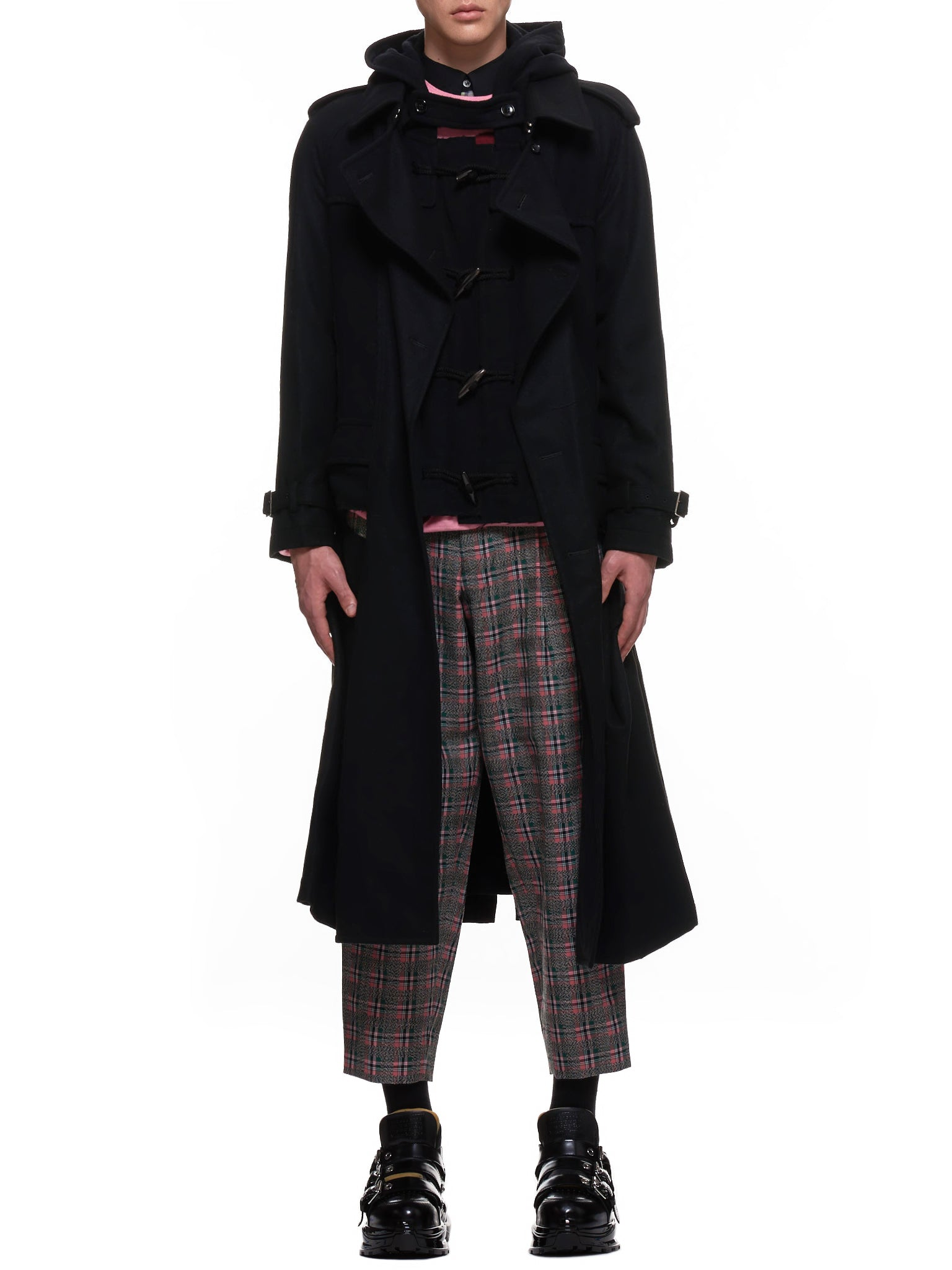 Cut-Out Duffle Coat (PF-C003-051-BLACK-BLACK)