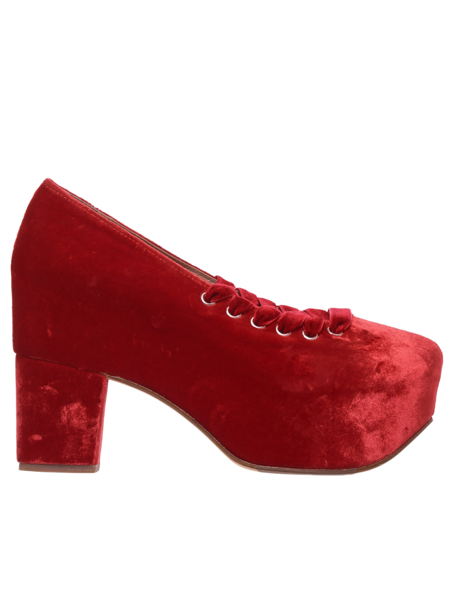 Crushed Velour Heels (PF1-0762-RED)