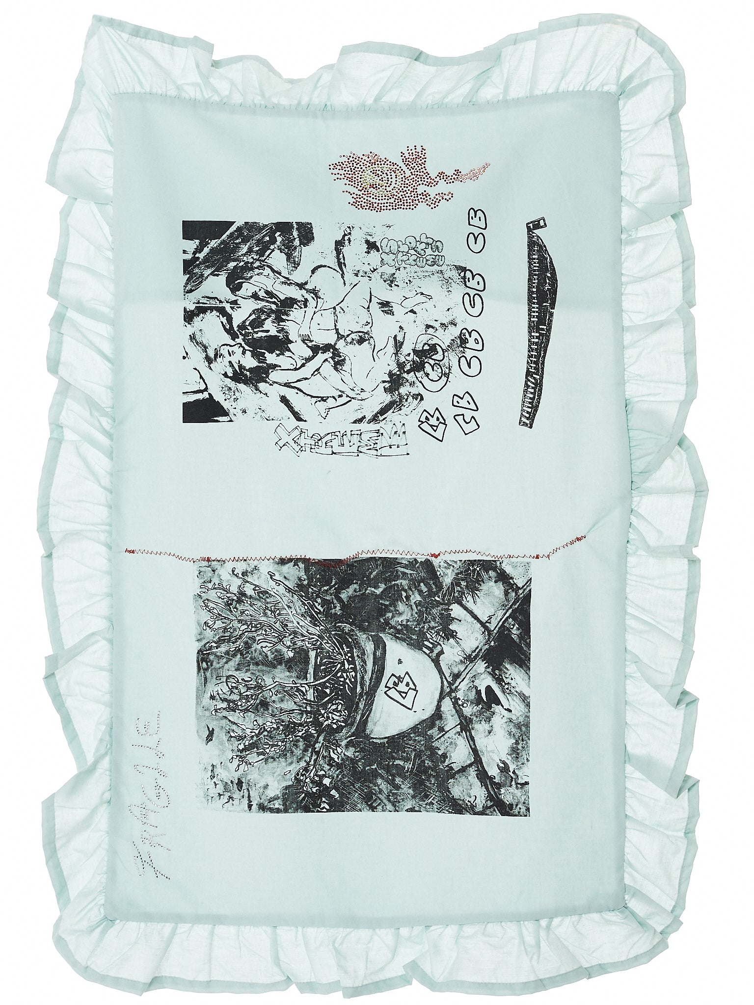 Hand Drawn Pillowcase (PILLOWCASE-BLUE)