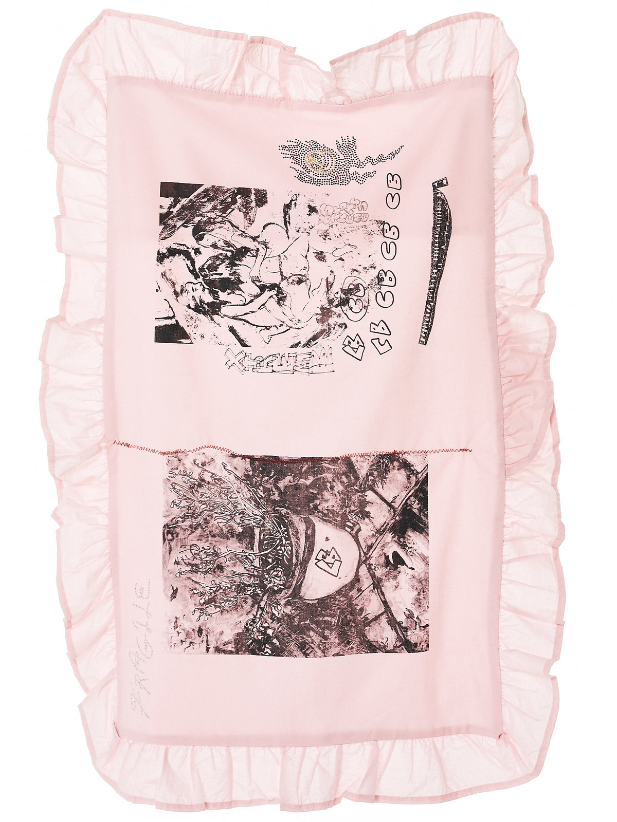 Hand Drawn Pillowcase (PILLOWCASE-PINK)