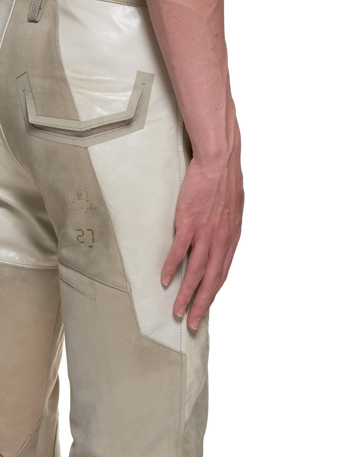 Goat Leather Biker Trouser (PISAG-32-BEIGE)