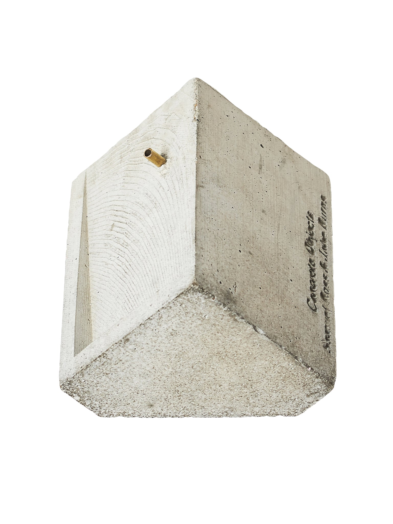 Concrete Objects Incense Burner - Hlorenzo Front Detail 1