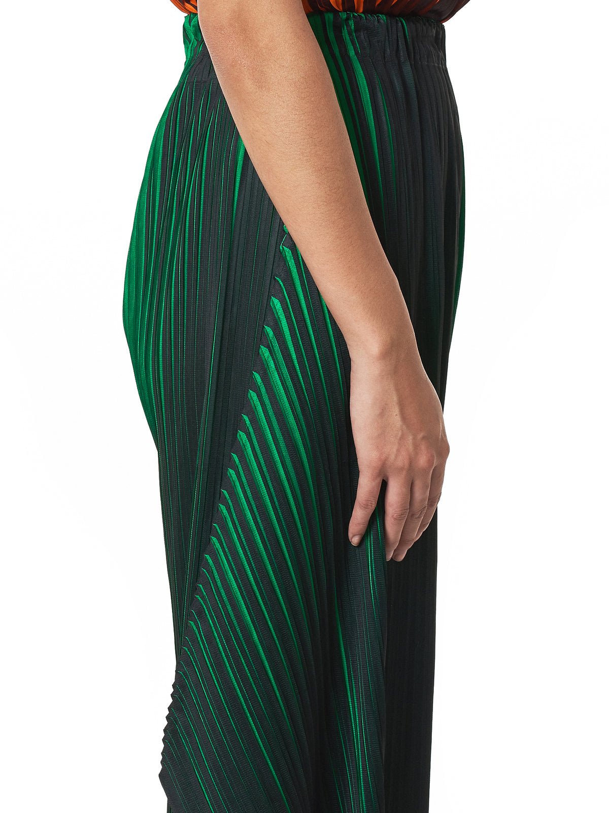 Pleats Please Issey Miyake Cropped Pants - Hlorenzo Detail 2