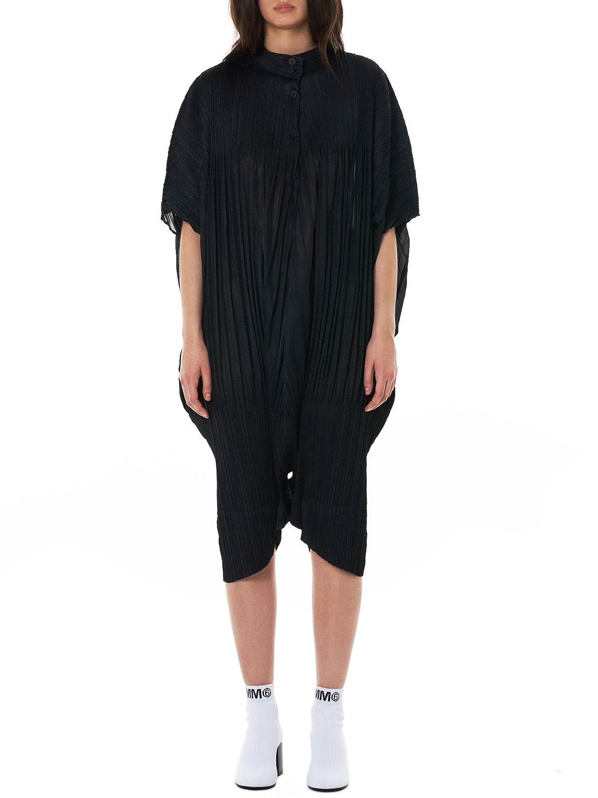 Long Plissé Jumper (PP88JI514-15-BLACK)