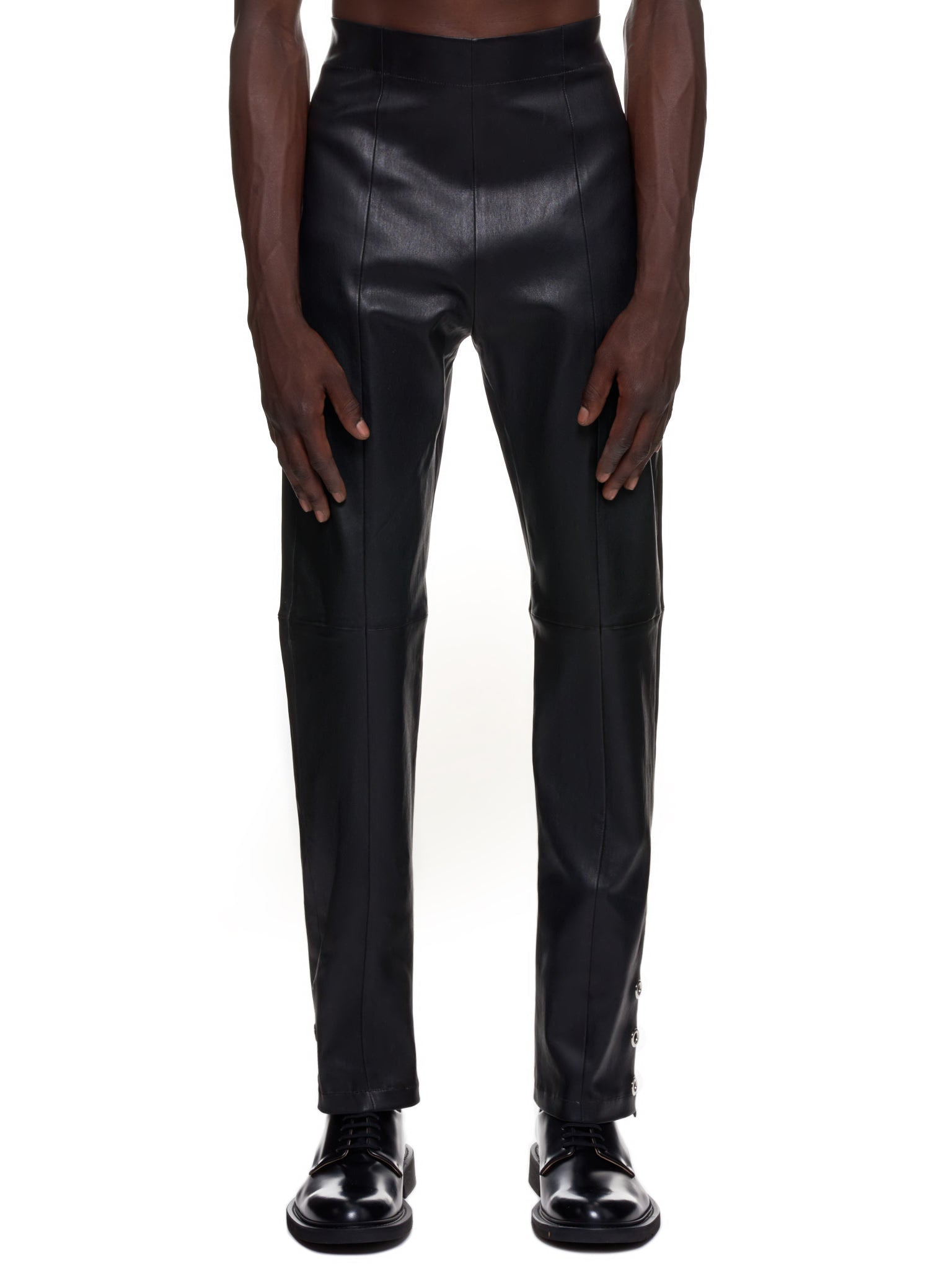 Ludovic De Saint Sernin Leather Pants | H.Lorenzo Front