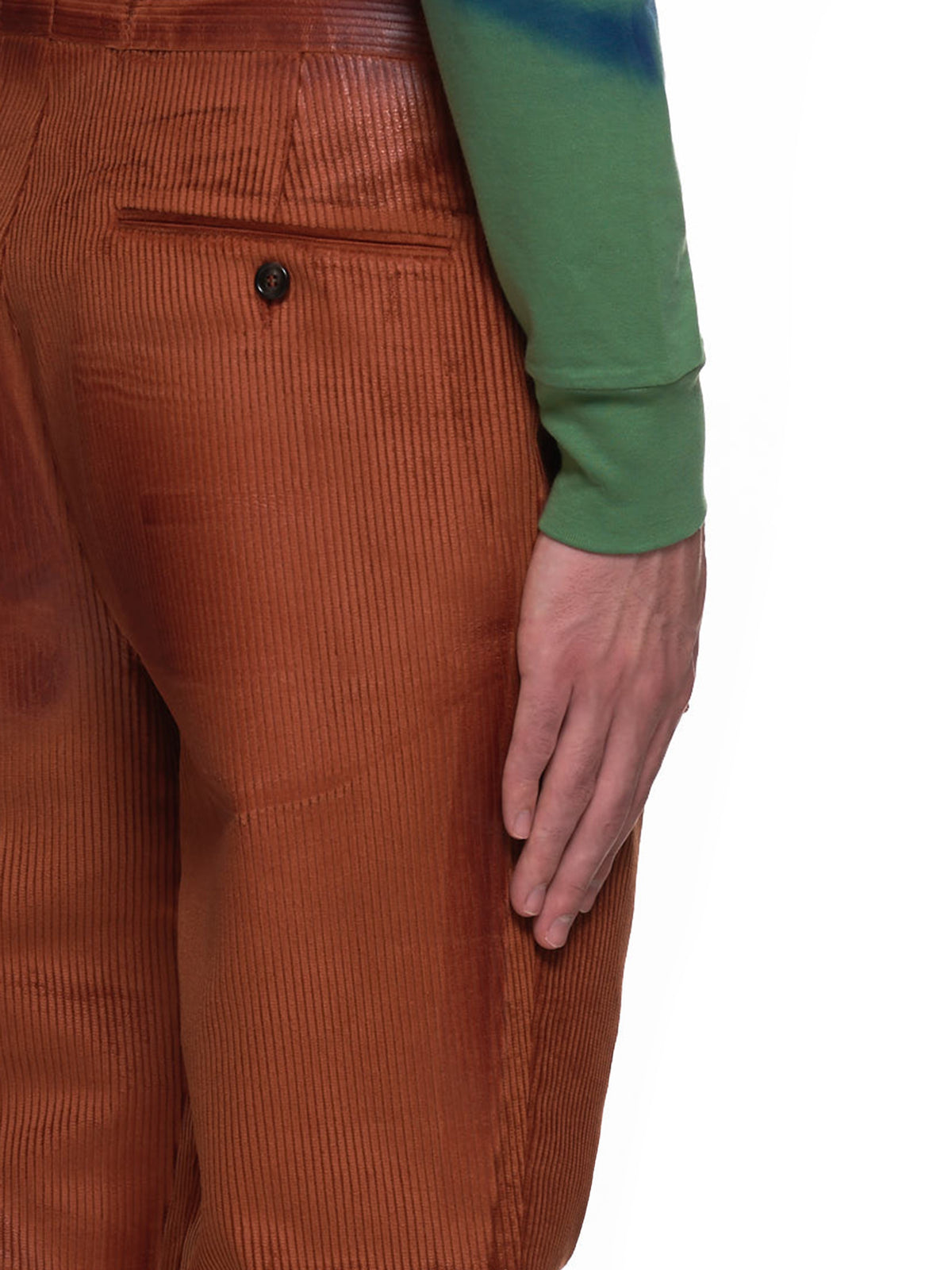 Corduroy Hide Trousers (PUMU0119M0-00M38-ORANGE)