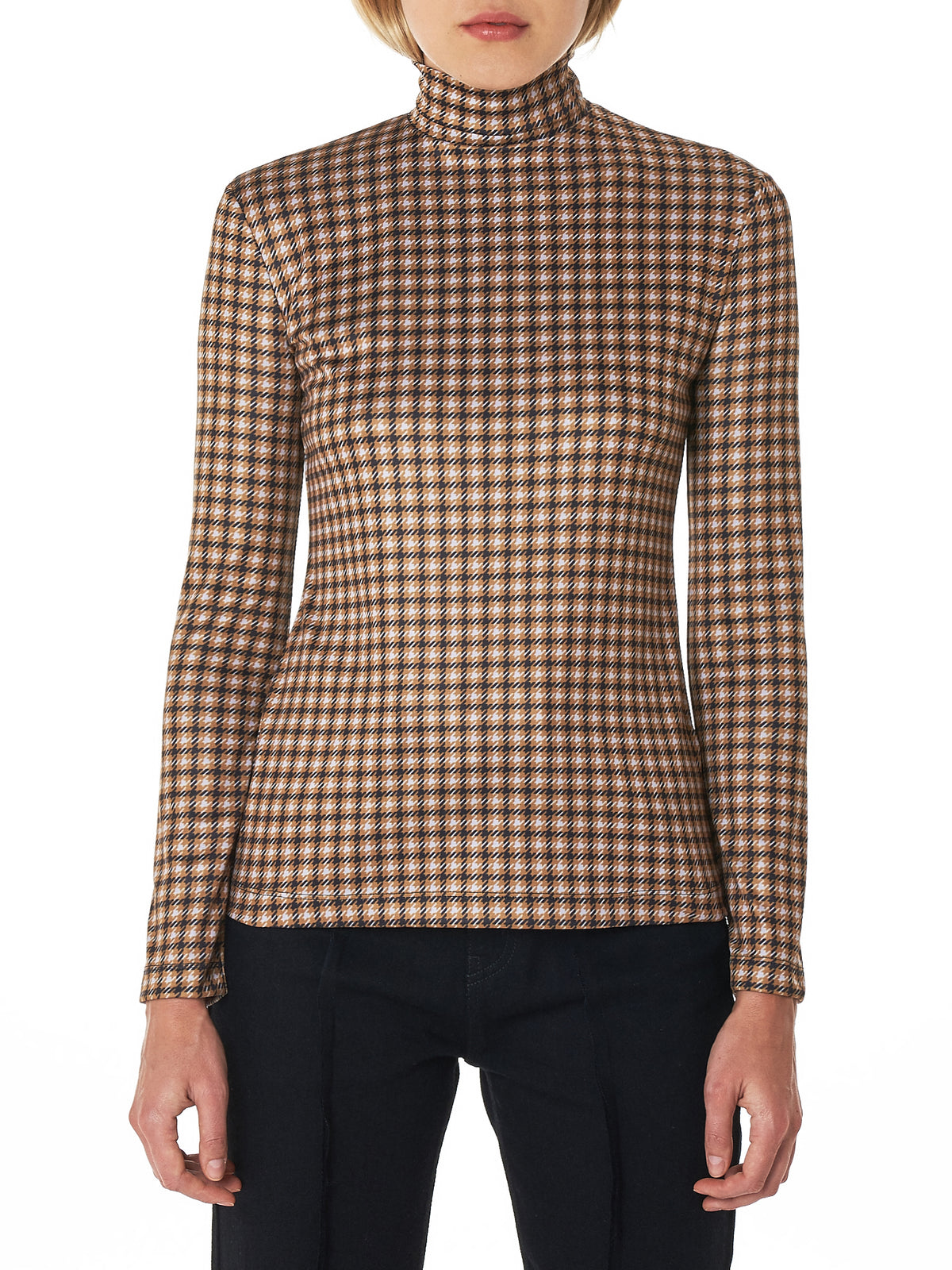 Houndstooth 'Mask' Top (R0CA40-V-PLAID)
