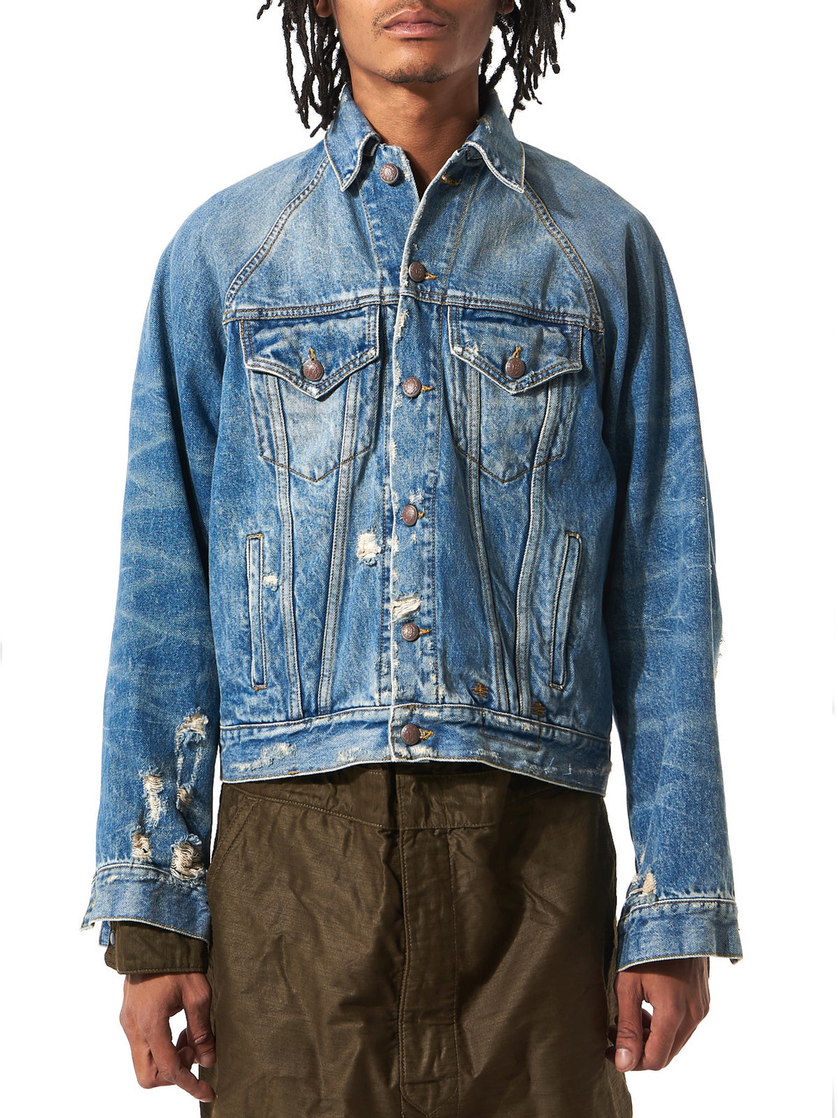 Distressed Raglan Denim(R13M1122-241 40S-BRUNL) - H. Lorenzo