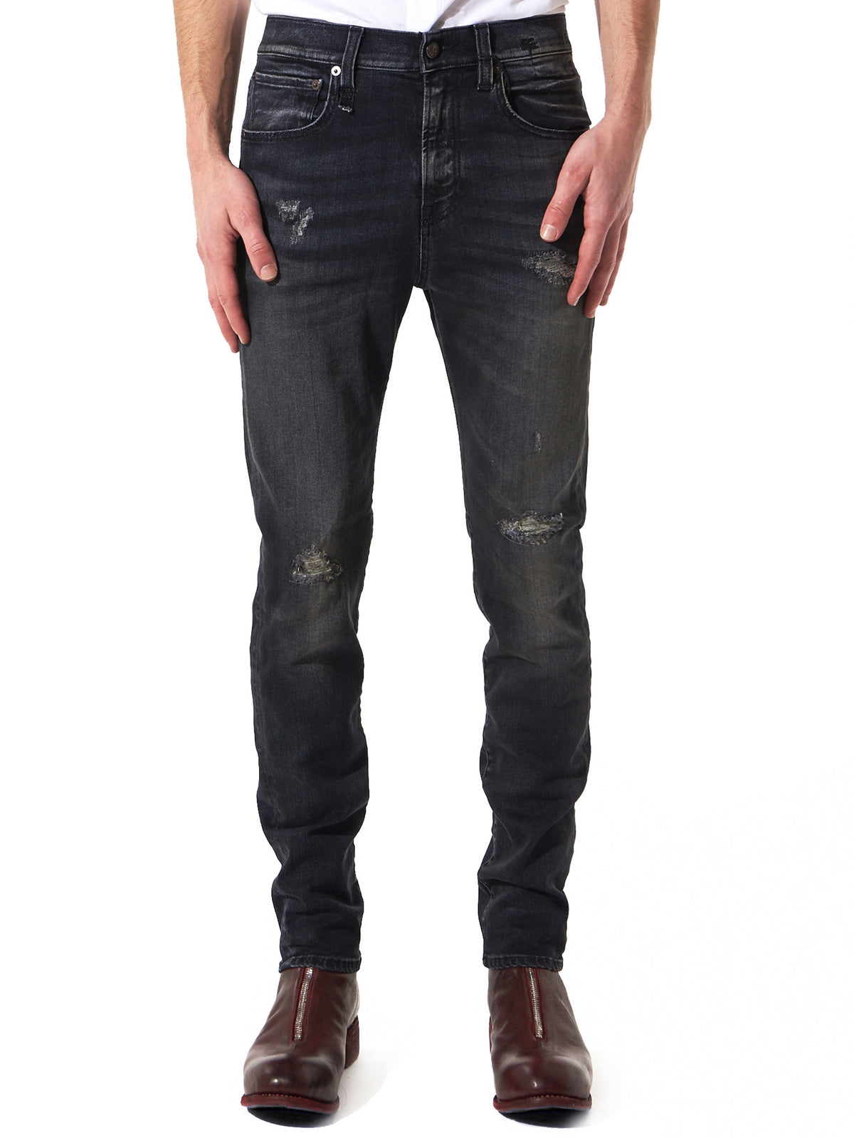 Distressed Denim (R13M0199-246 135-WNBK) - H. Lorenzo