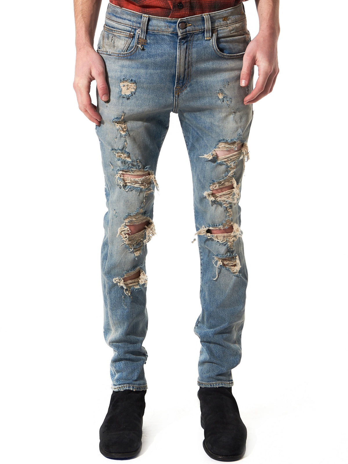 Heavily Distressed Denim(R13M0199-253 40M CRMWL) - H. Lorenzo