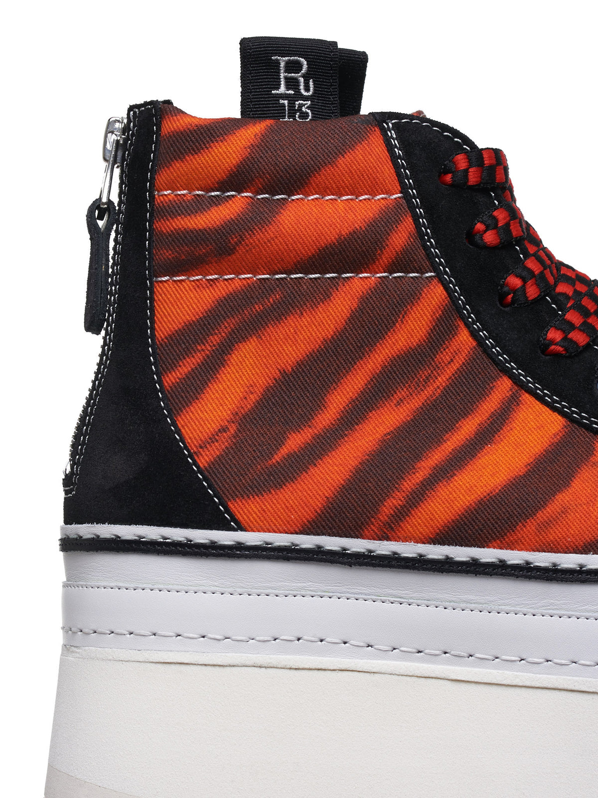 High Top Skate Sneakers (R13S0192-011-ORANGE-TIGER)