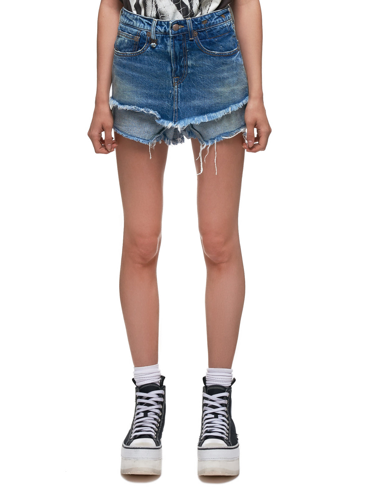 Double Layered Denim Shorts (R13W0161-JASPER)