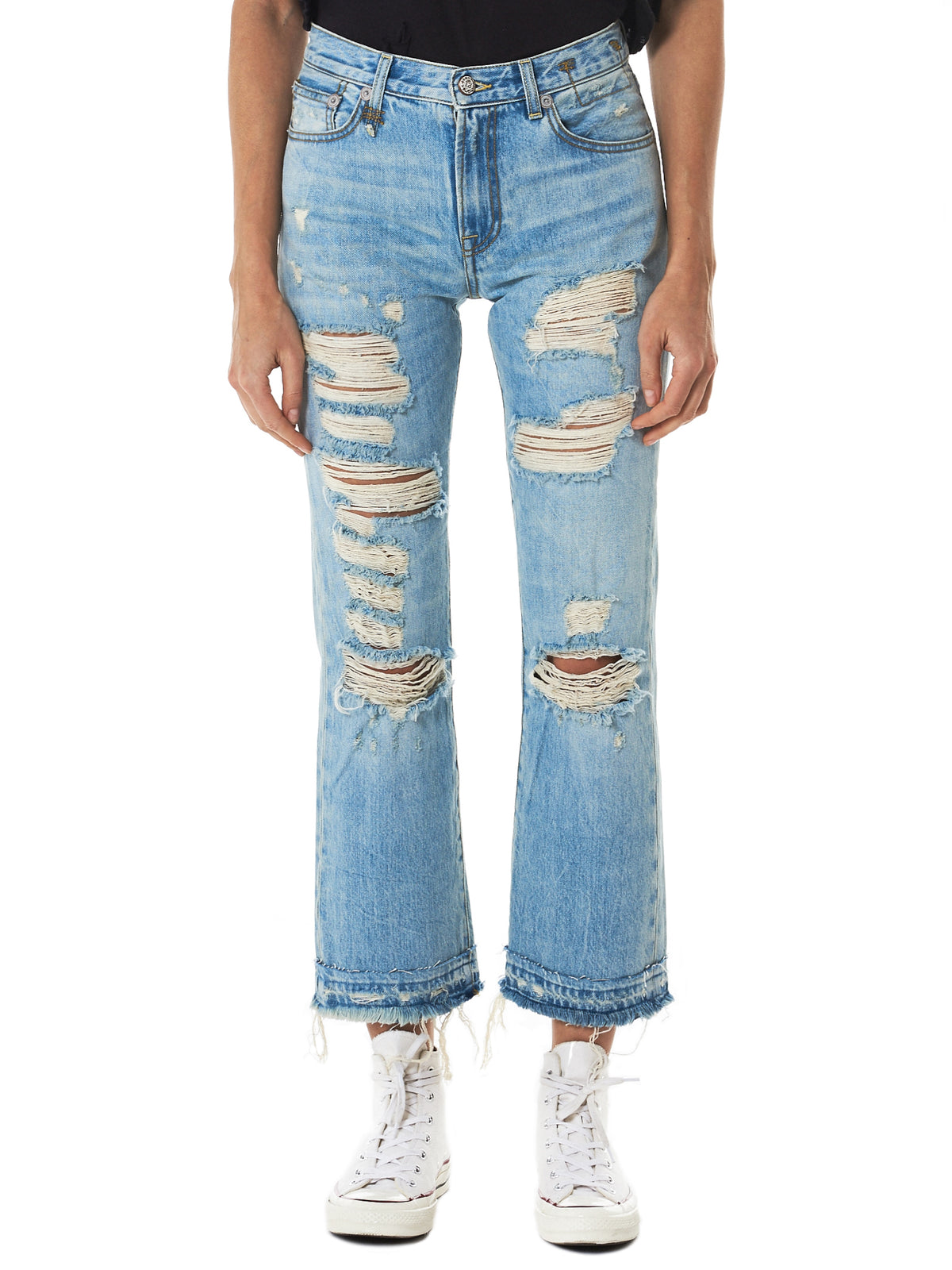 'Bowie' Distressed Denim Pants (R13W1077-002-TILLY)