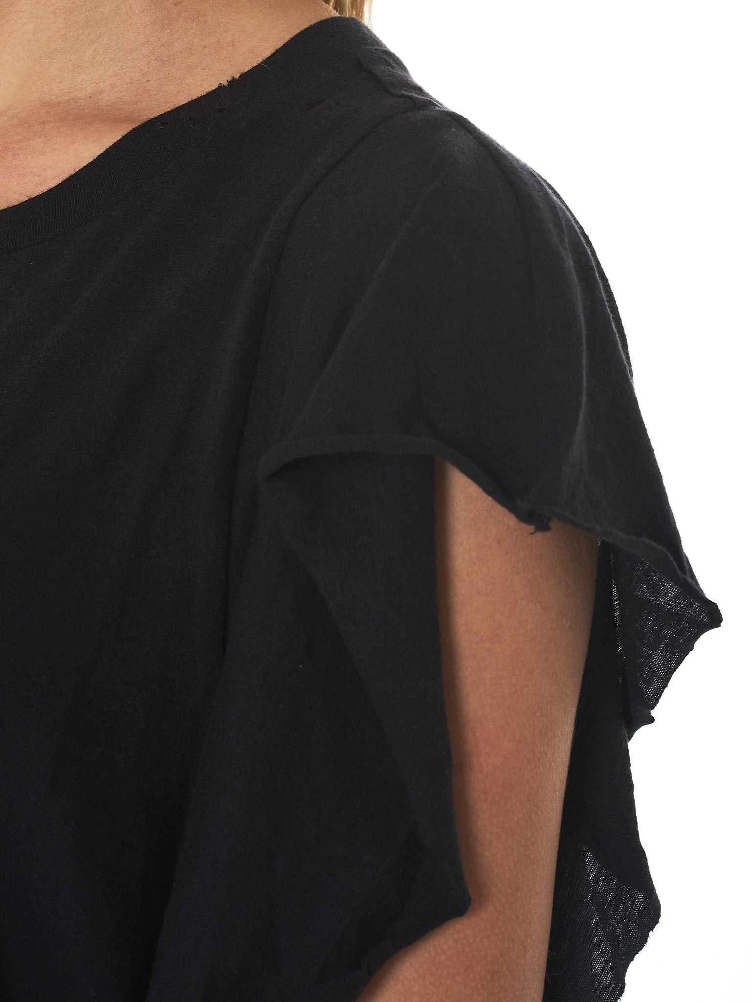 Raw Trim Flutter Tee (R13W3624-01-BLACK)