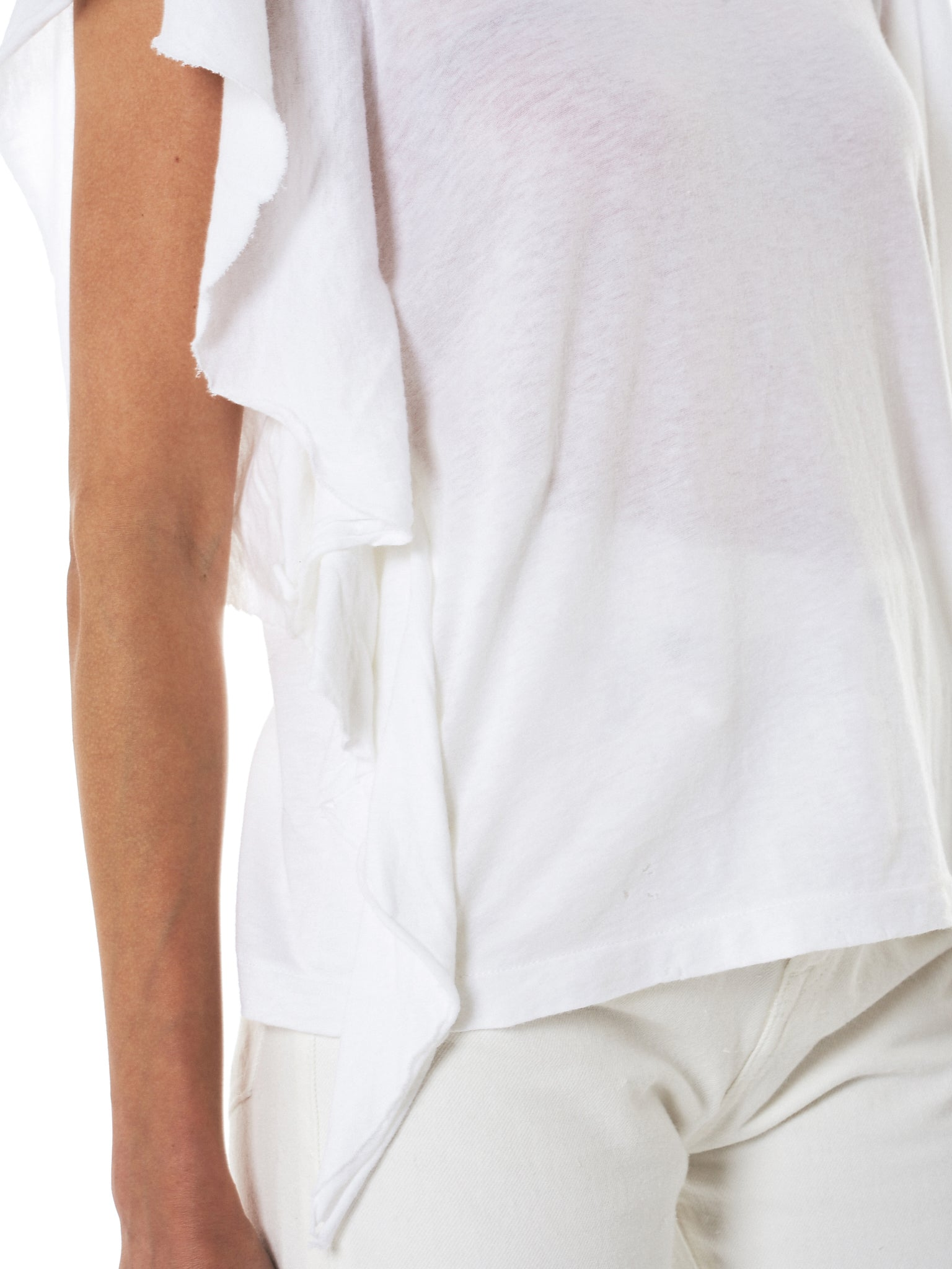 Raw Trim Flutter Tee (R13W3624-04-WHITE)