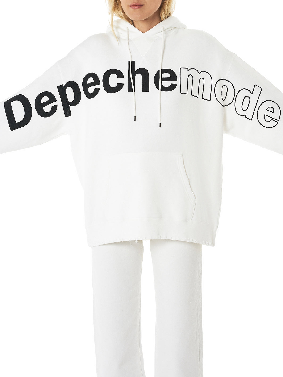 'Depeche Mode' Hooded Sweater (R13W3643-850-WHITE)